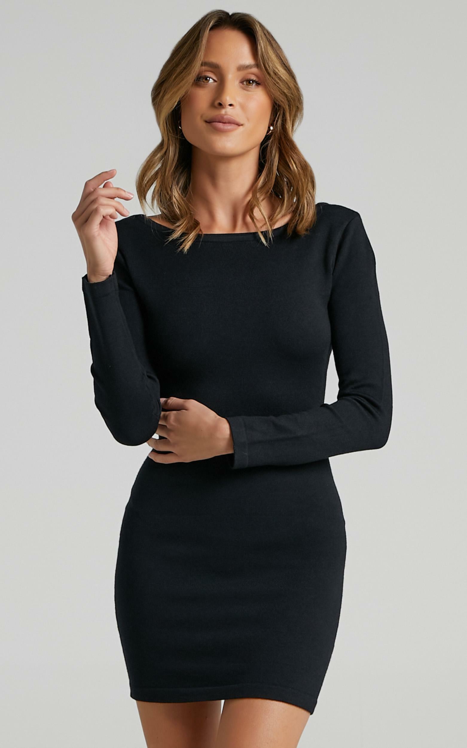 Sonya Knit Dress in Black - 12, BLK1, hi-res image number null