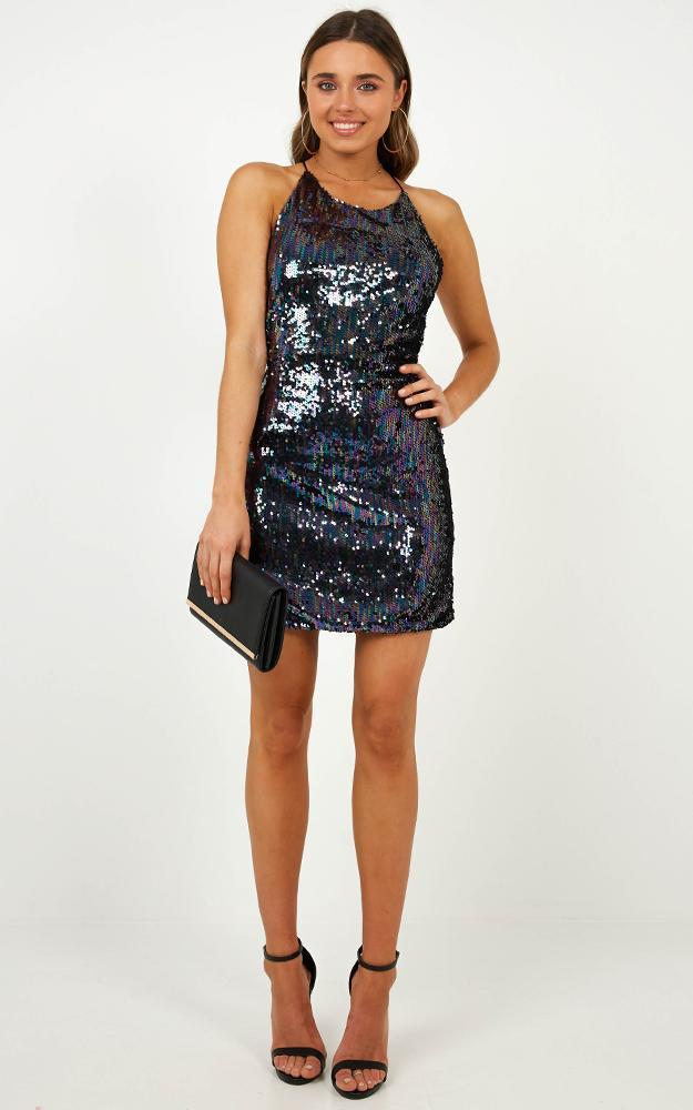 Just Have Fun Dress in multi sequins - 14 (XL), Navy, hi-res image number null