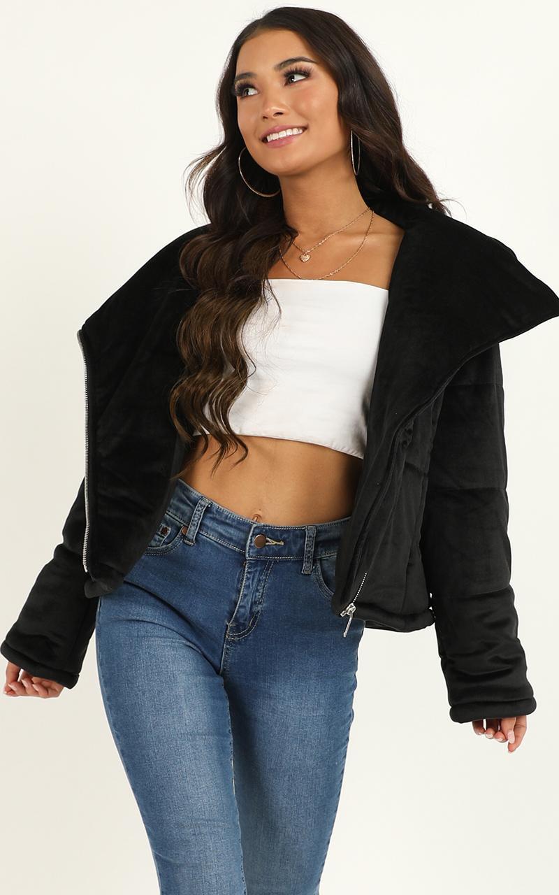 Side Street puffer jacket in black - 12 (L), Black, hi-res image number null