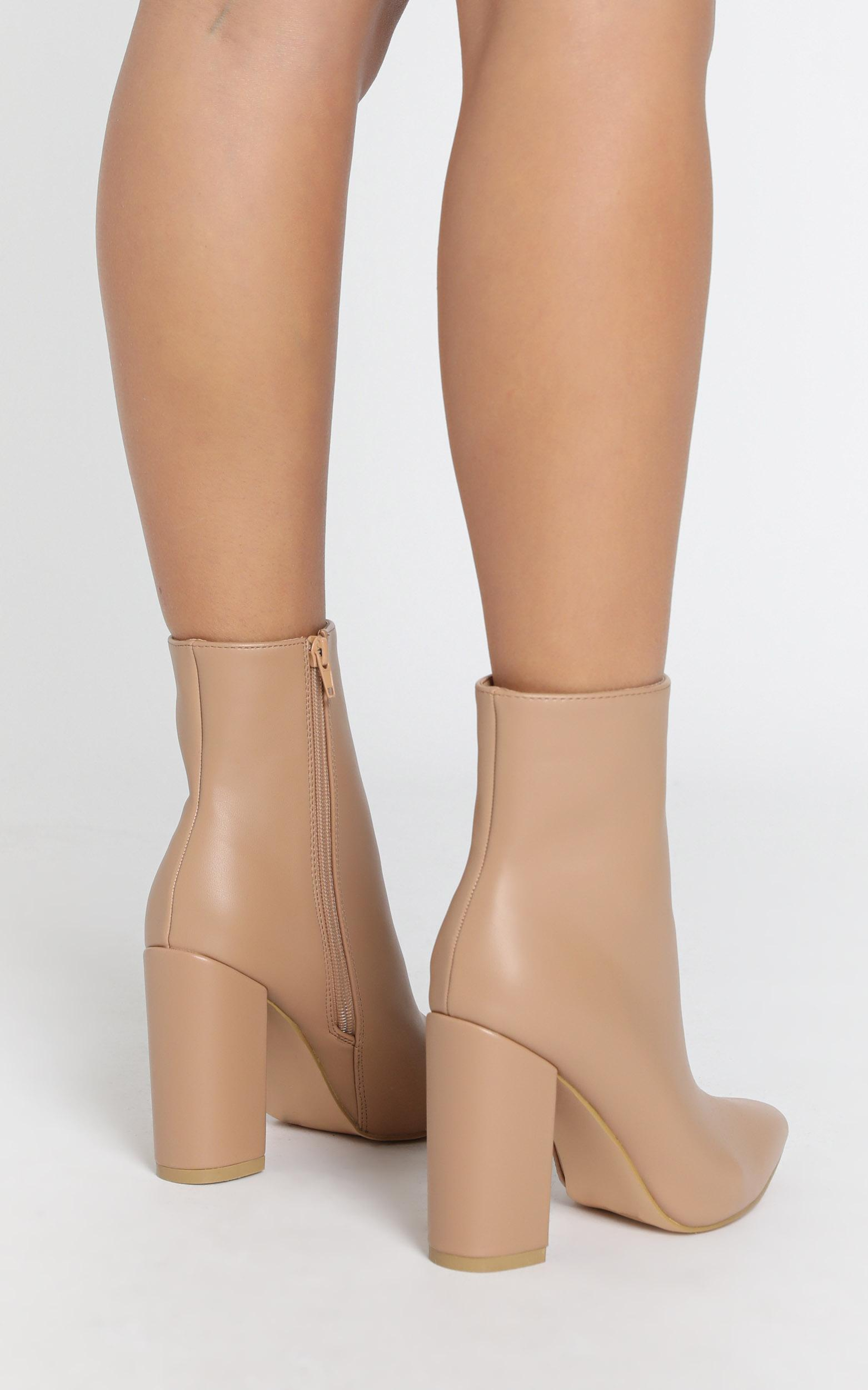 Verali - Dawson Boots in latte smooth - 5, Beige, hi-res image number null