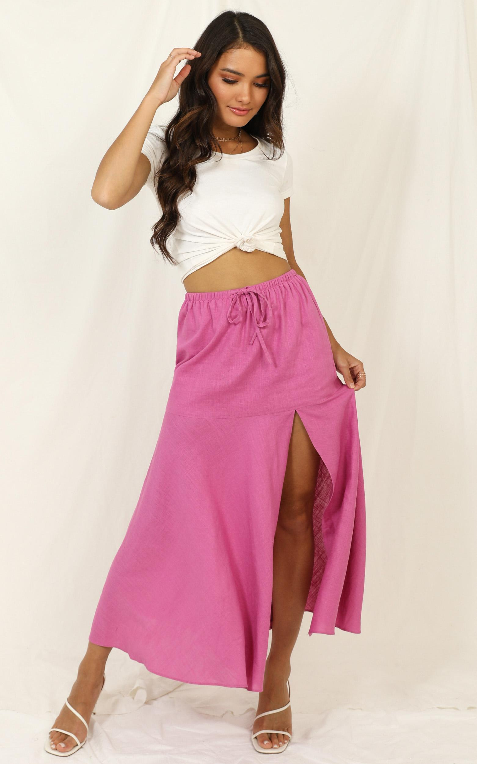 Break The Habit skirt in pink - 14 (XL), Pink, hi-res image number null
