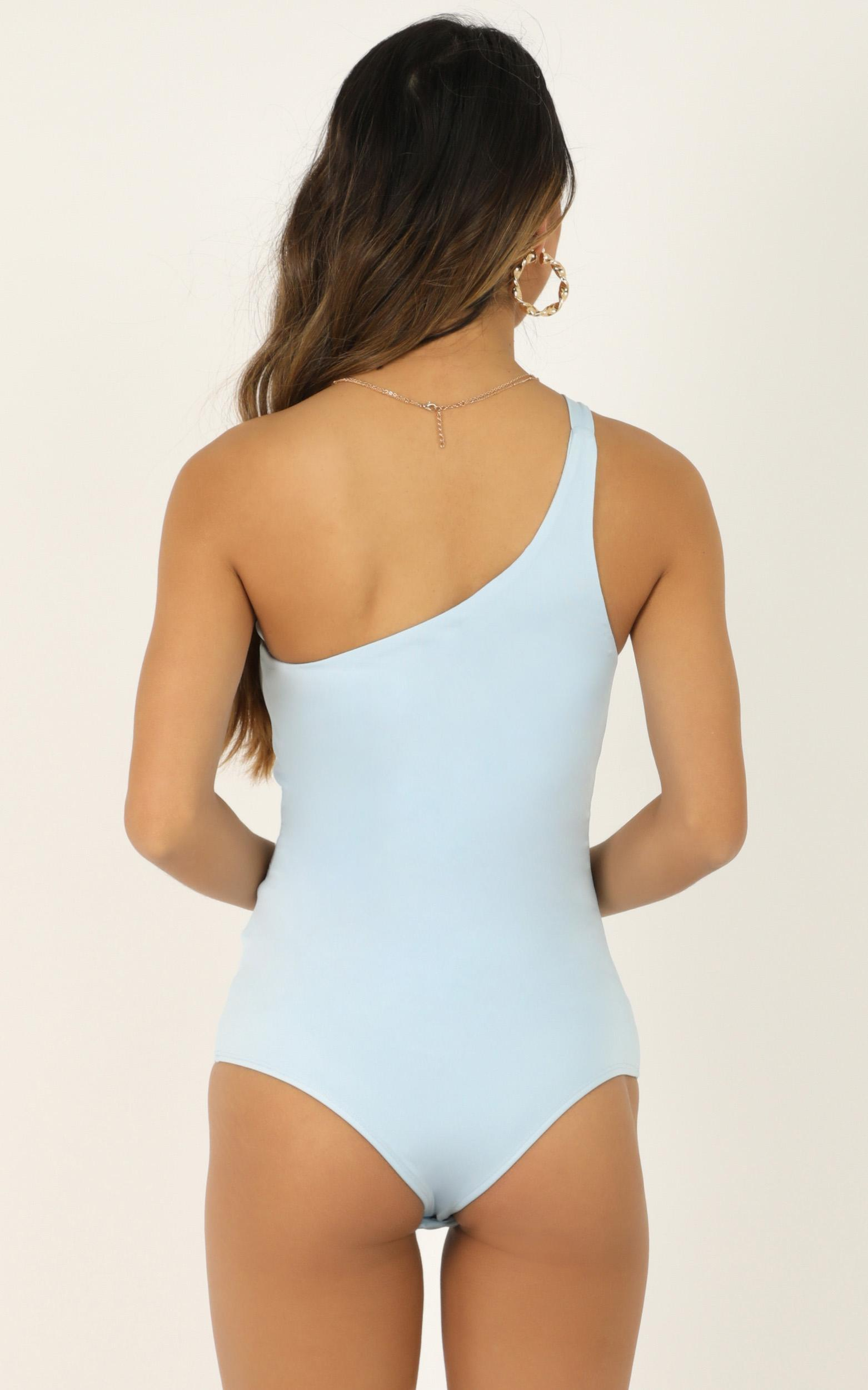 Checked In Bodysuit In powder blue - 20 (XXXXL), Blue, hi-res image number null