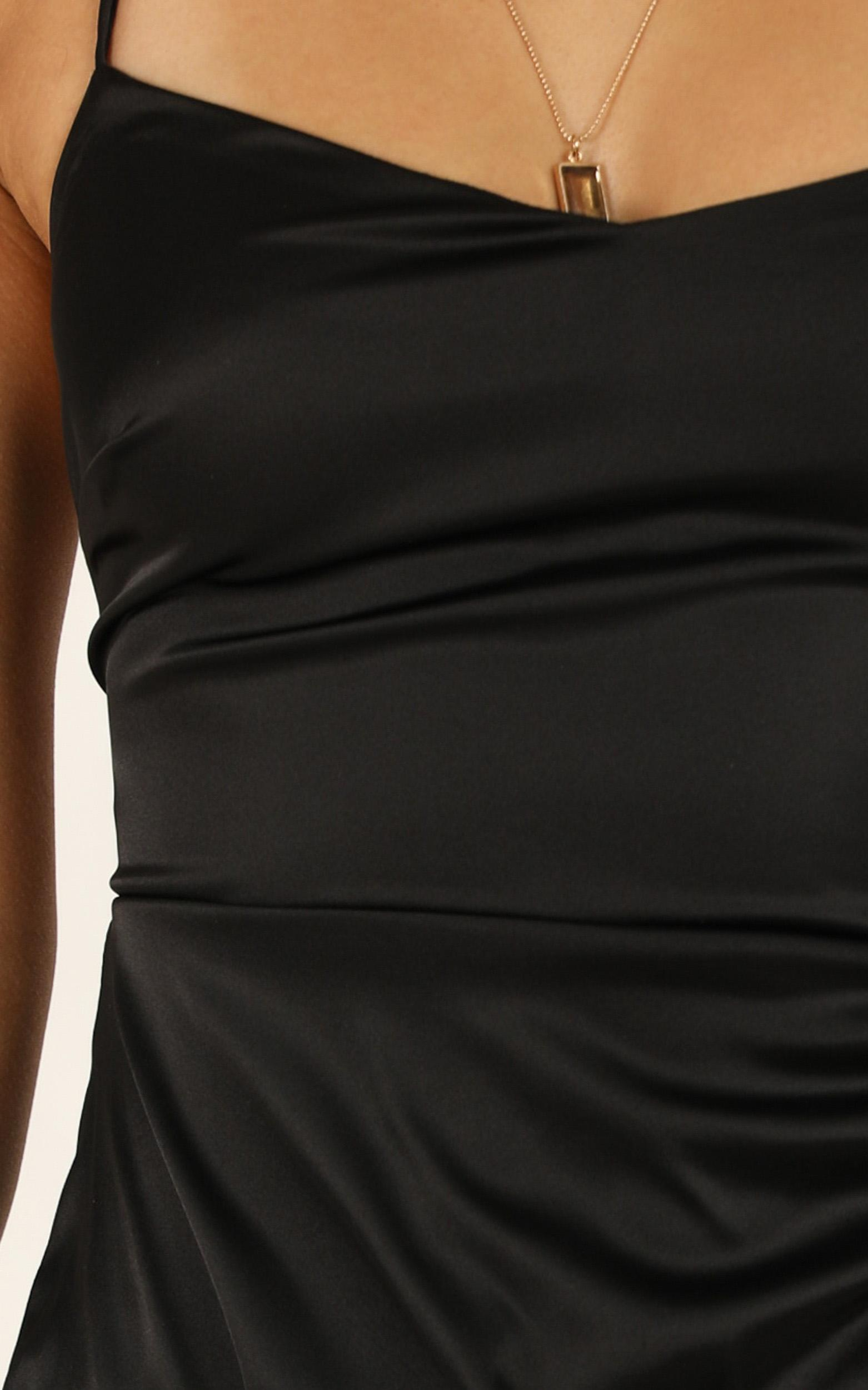 Look Like This Dress in black satin - 20 (XXXXL), Black, hi-res image number null