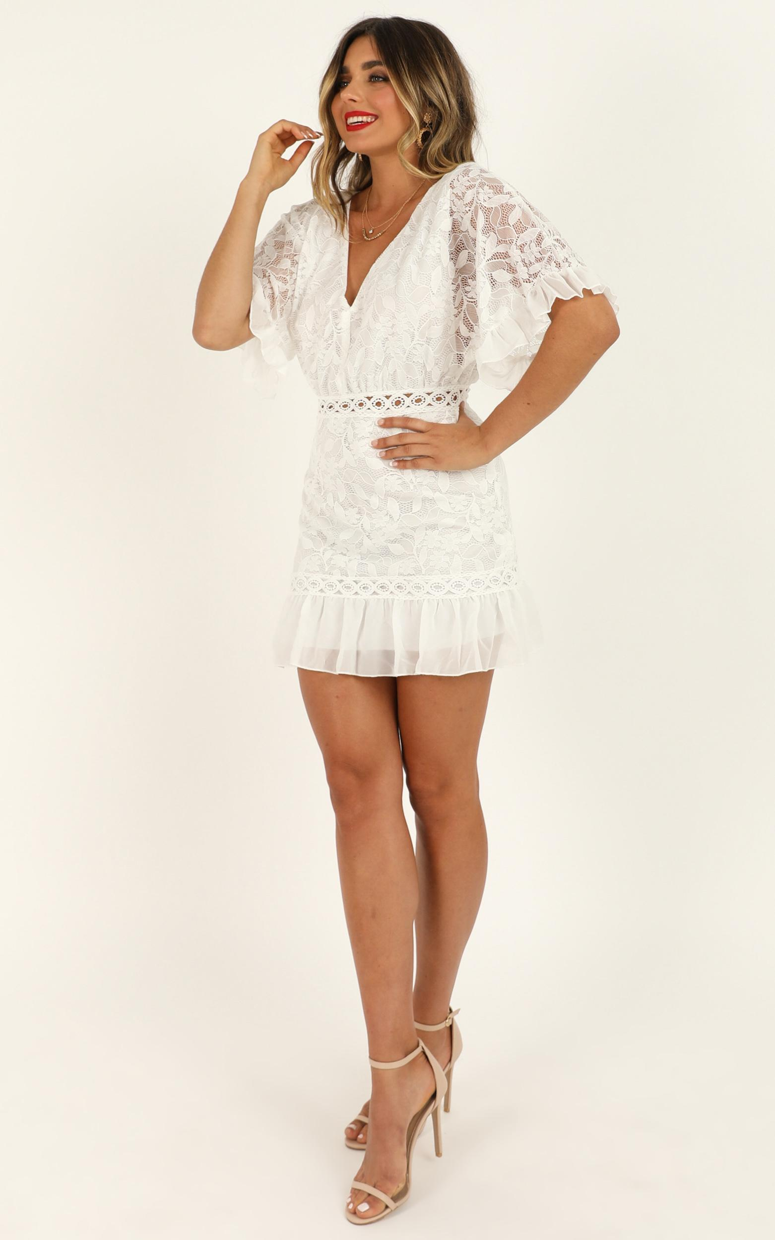 Distant Sun dress in white lace - 12 (L), White, hi-res image number null