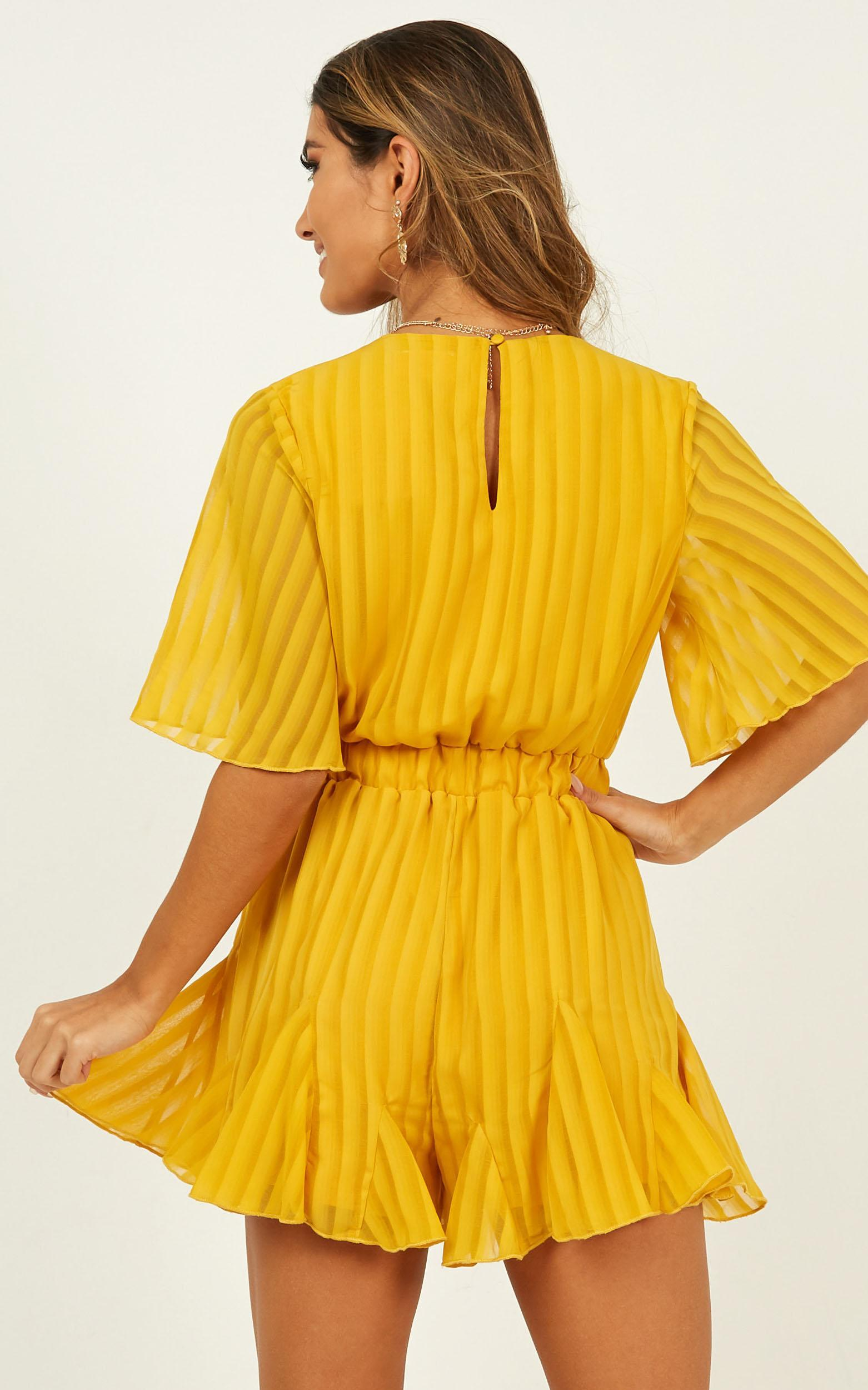 Play On My Heart Playsuit in mustard - 20 (XXXXL), Mustard, hi-res image number null