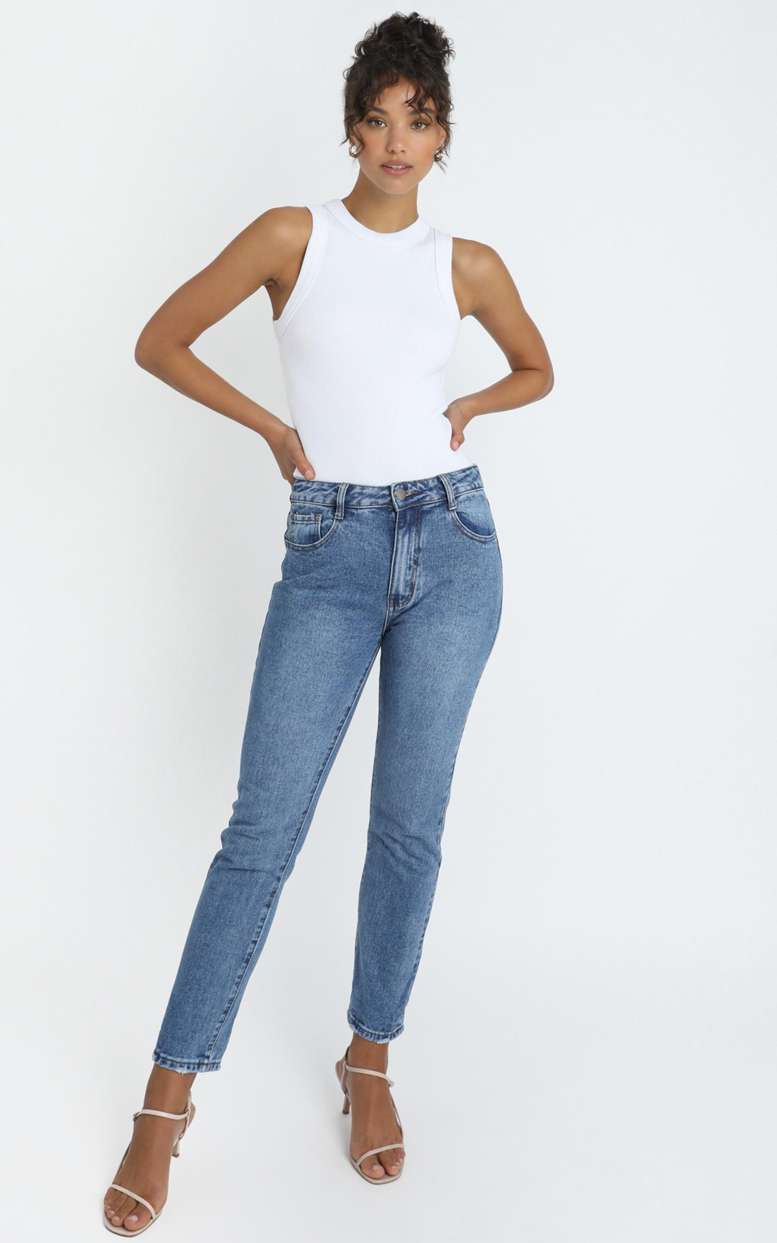 Remy Jeans in mid wash denim - 14 (XL), Blue, hi-res image number null