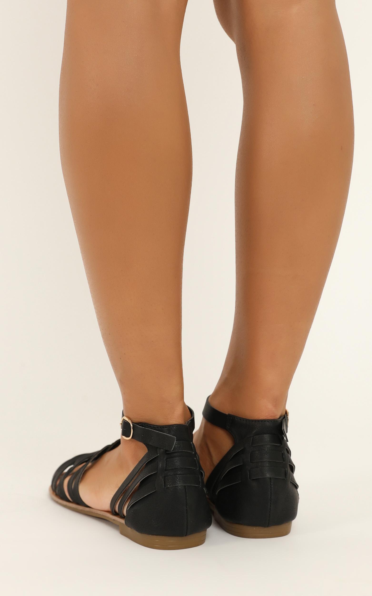 Verali - San Marco Sandals in black smooth - 10, Black, hi-res image number null