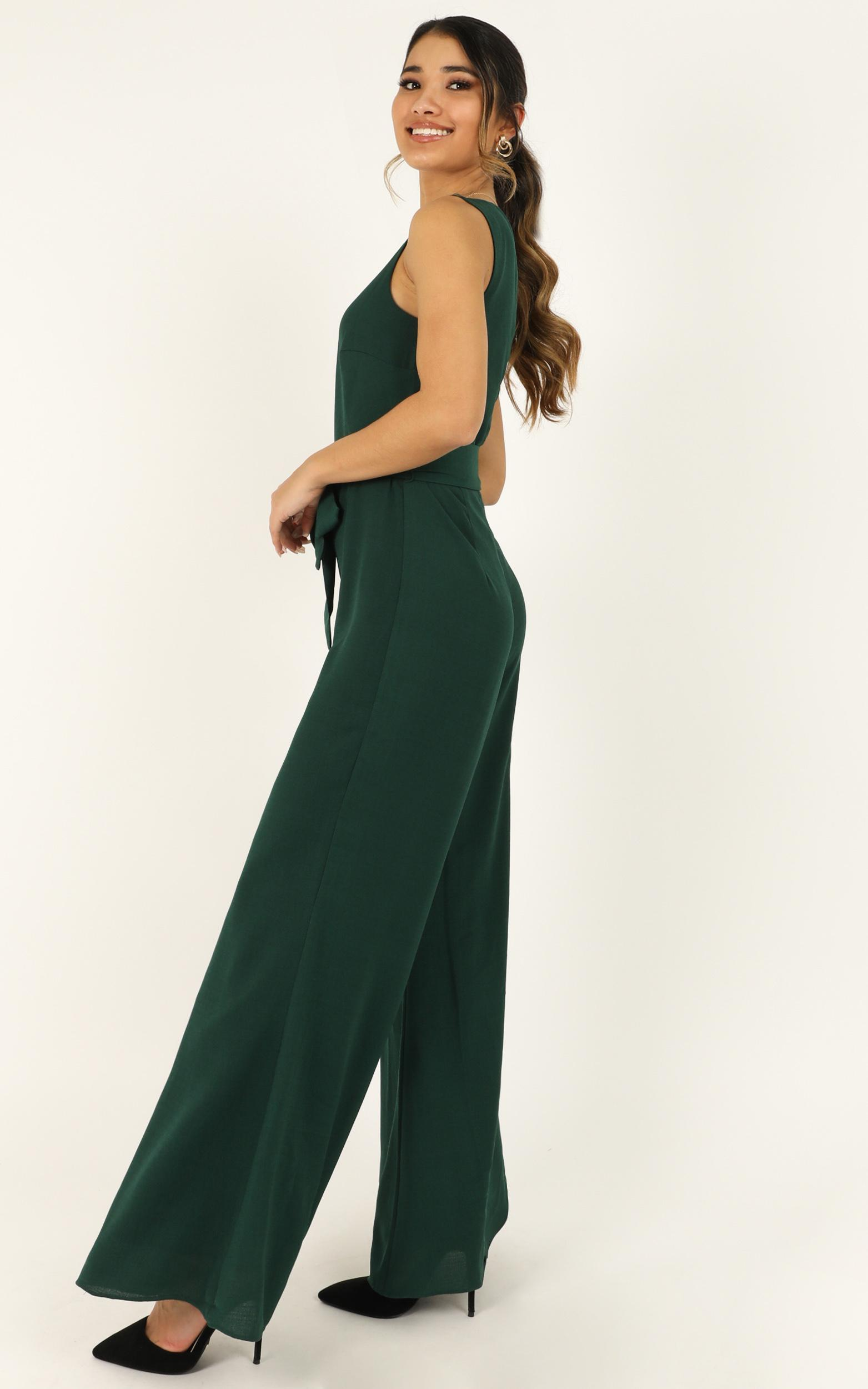 Leave Me in Paradise Jumpsuit in forest green - 20 (XXXXL), Green, hi-res image number null
