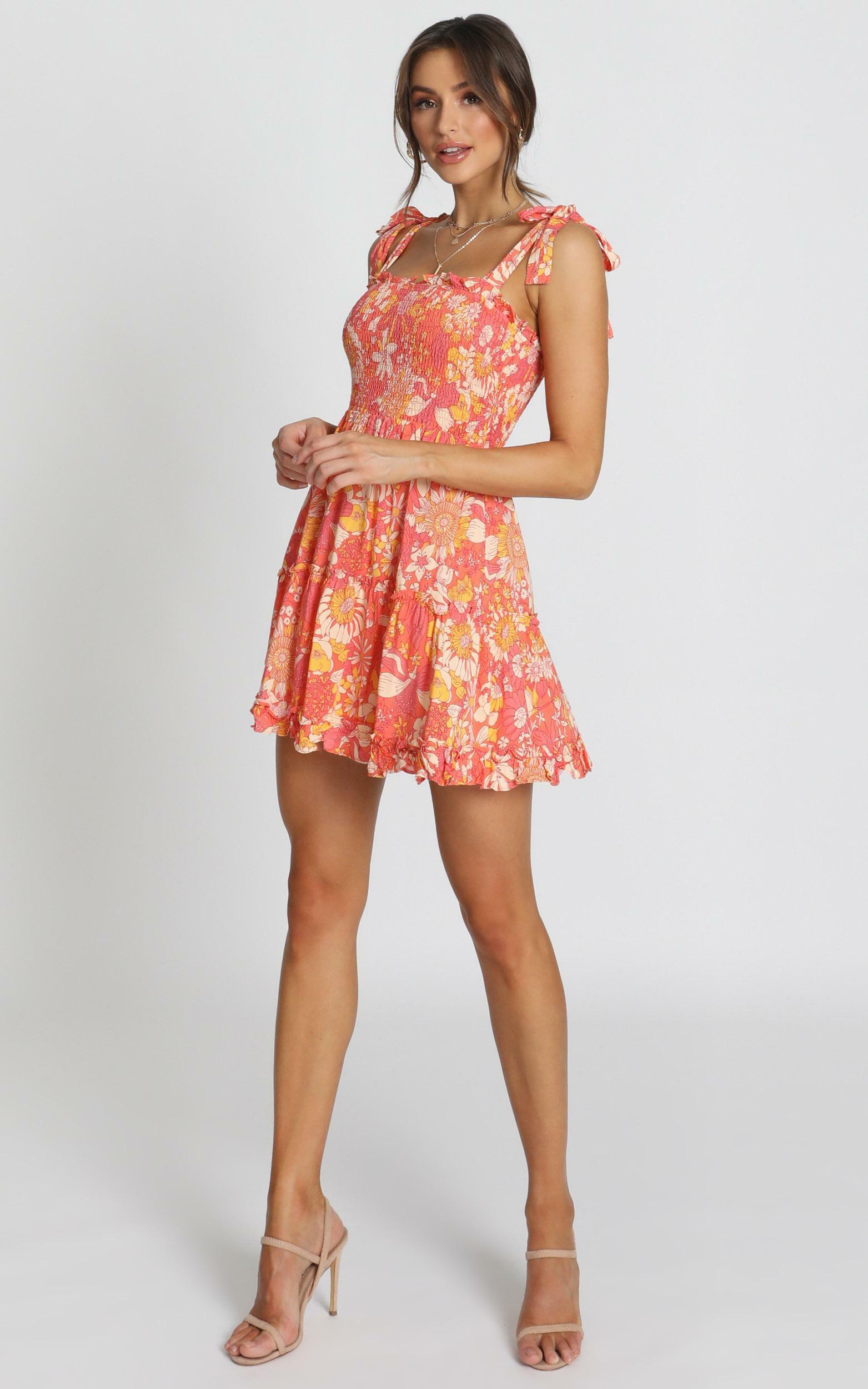 Austin Dress in red floral - 12 (L), Red, hi-res image number null