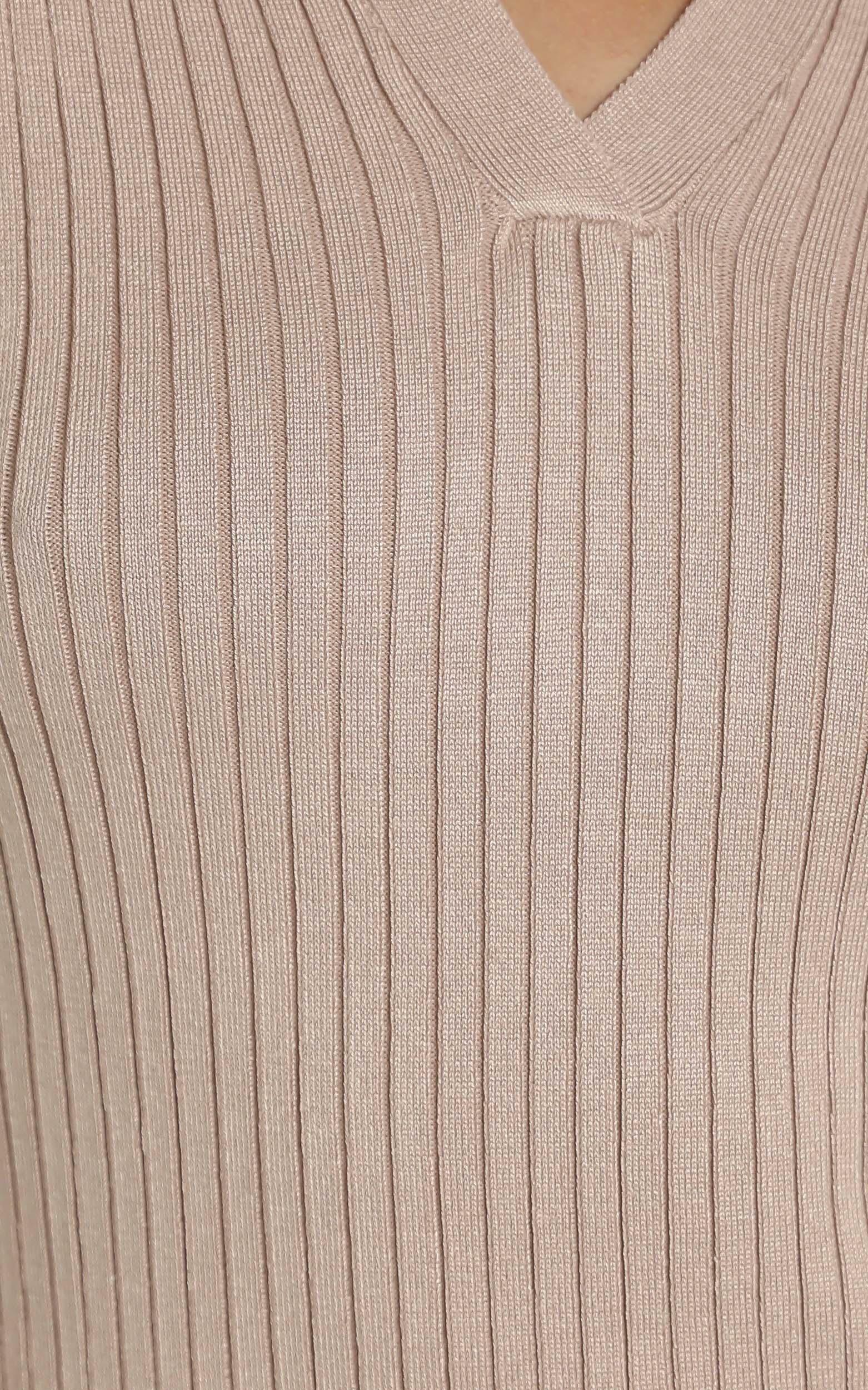 Svetlana Dress in Tan - 12 (L), Tan, hi-res image number null