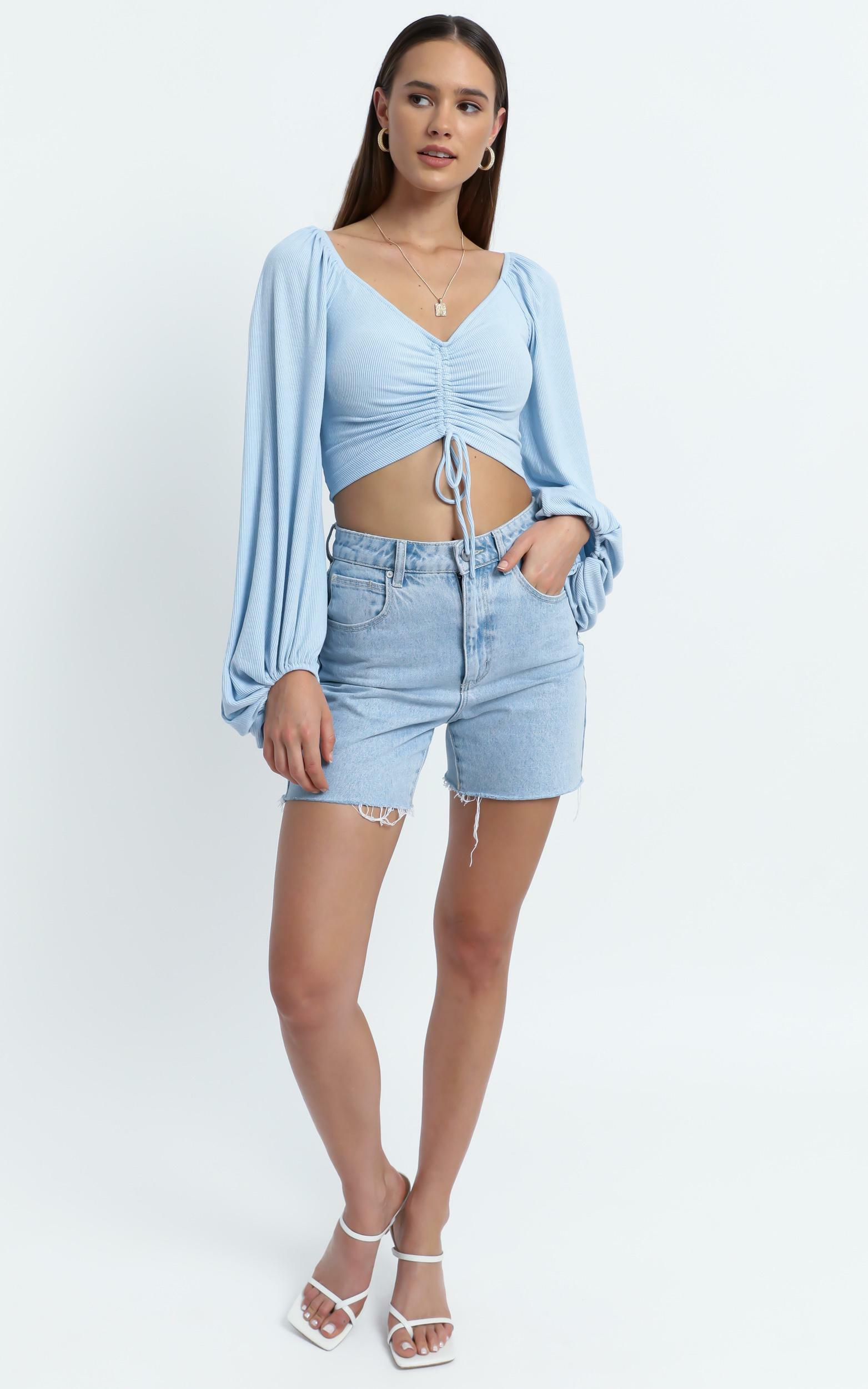 Penelope Top in Blue - 6 (XS), Blue, hi-res image number null