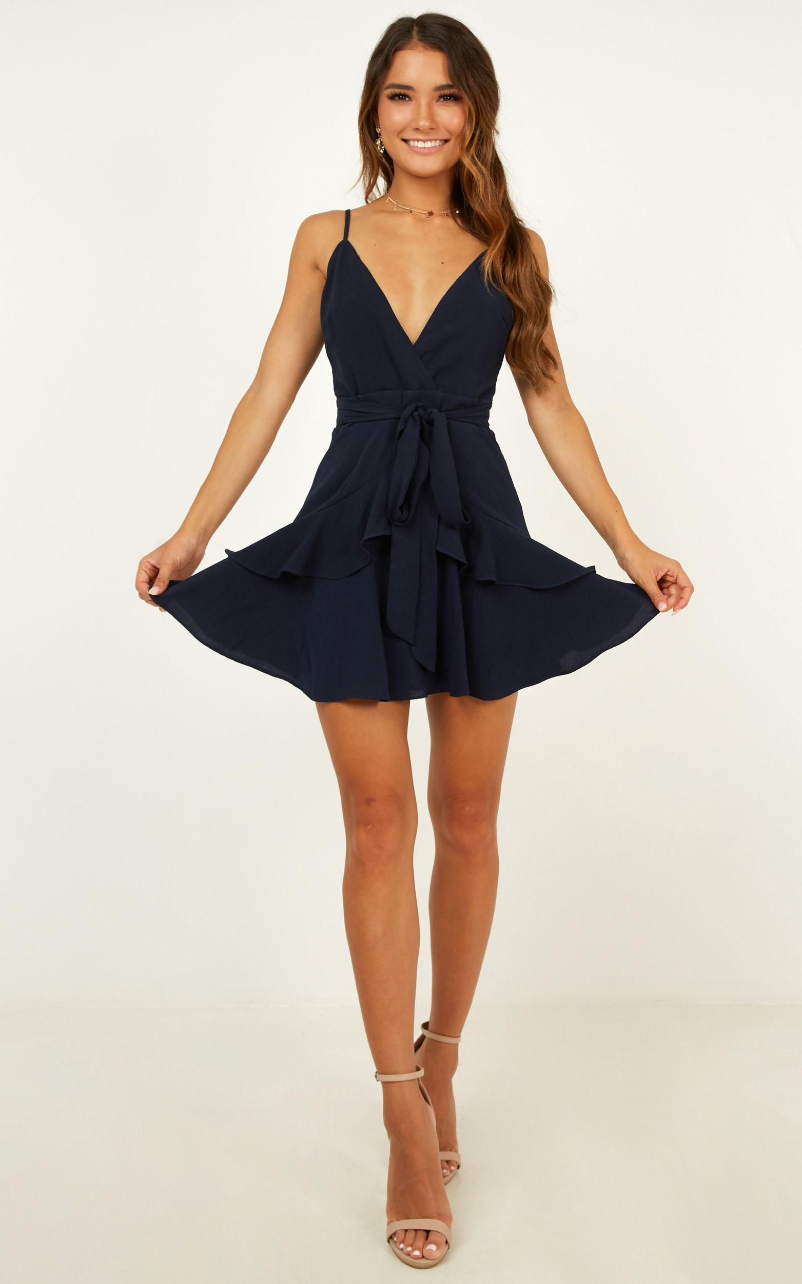 Feels Like Love Dress In Navy - 16 (XXL), Navy, hi-res image number null