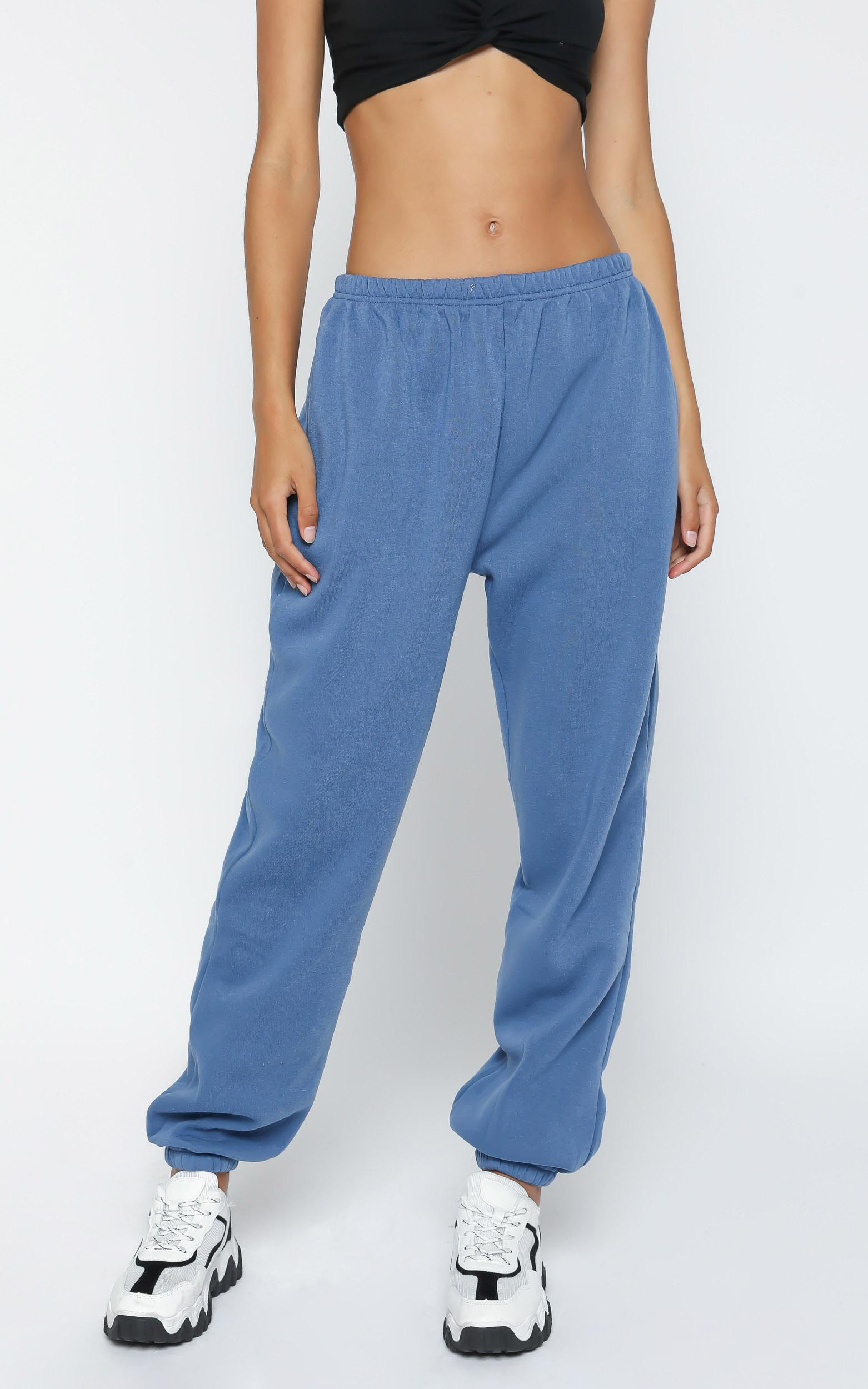 Lioness - Academy Sweatpants in Dusty Blue - 4 (XXS), BLU1, hi-res image number null