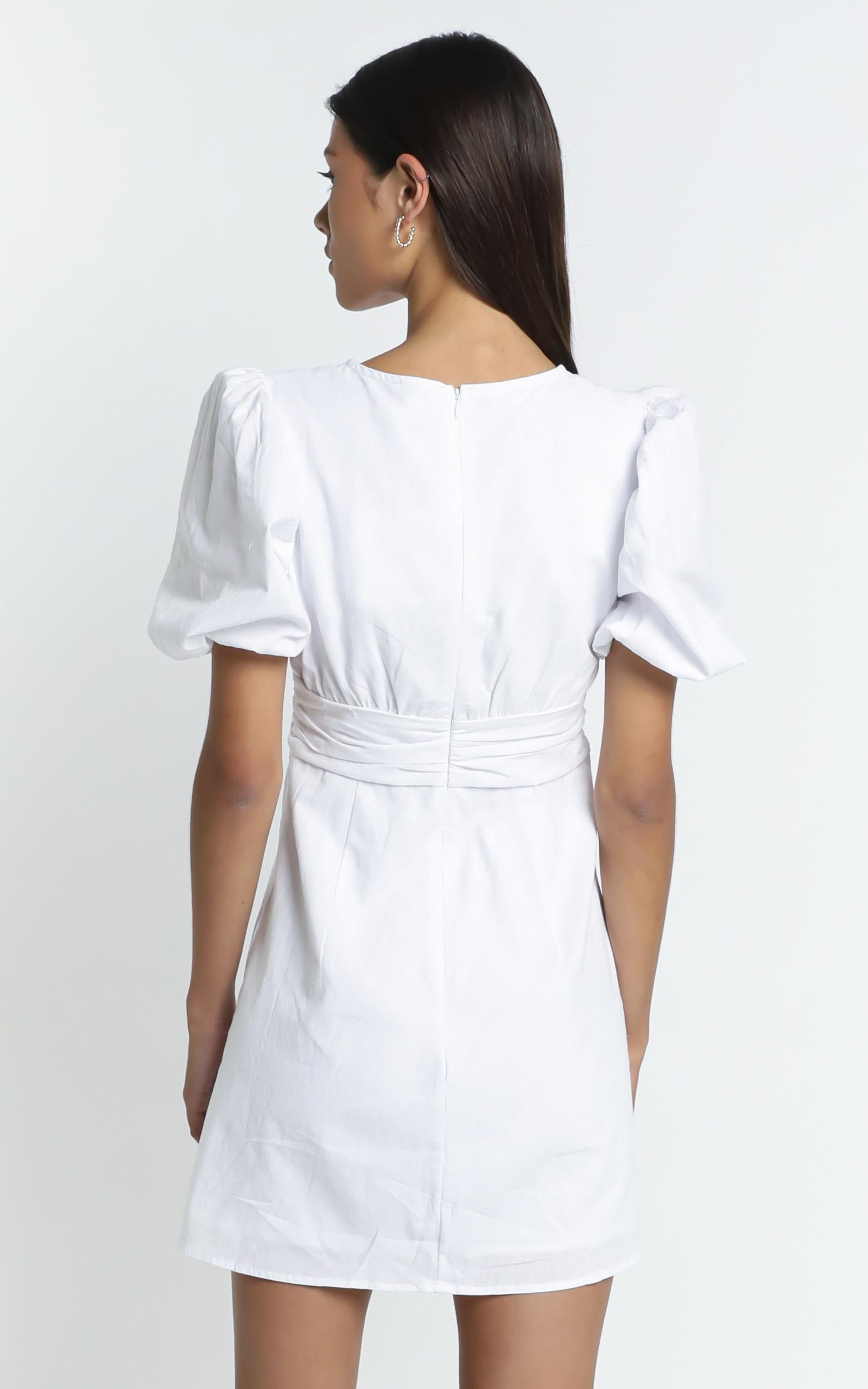 Sunray Dress in White - 6 (XS), White, hi-res image number null