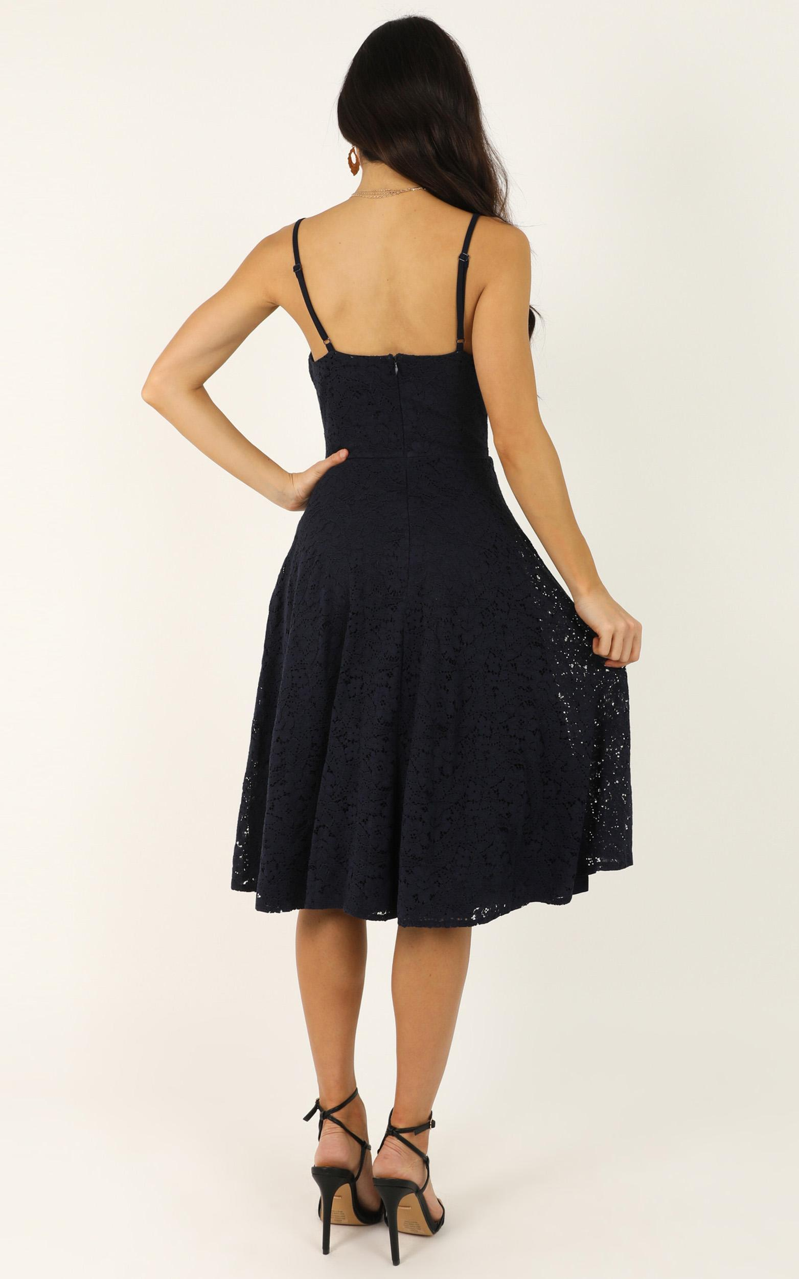 Far Beyond Dress in navy lace - 20 (XXXXL), Navy, hi-res image number null