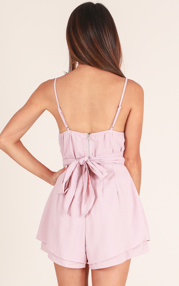 Wish You Would playsuit in blush - 6 (XS), Blue, hi-res image number null