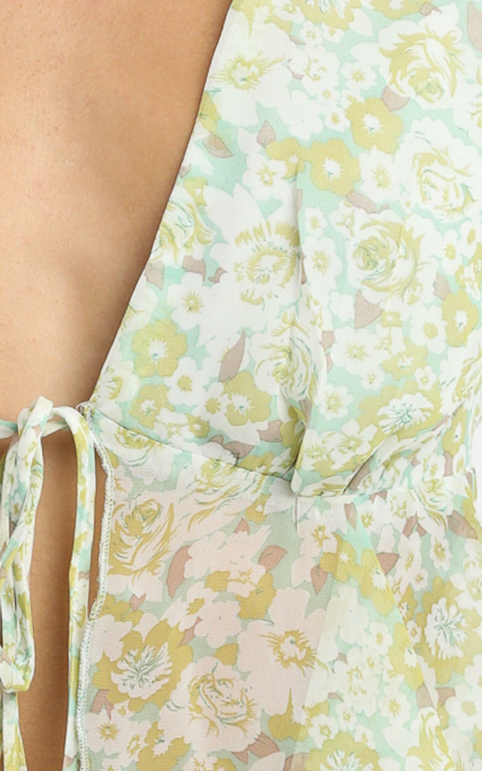 Dance It Out Top in Citrus Floral citrus floral - 4 (XXS), Sage, hi-res image number null