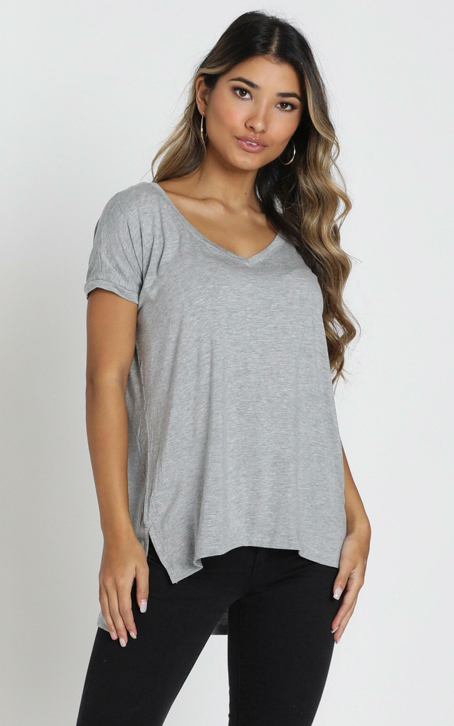Back To Basics top in grey - 20 (XXXXL), Grey, hi-res image number null