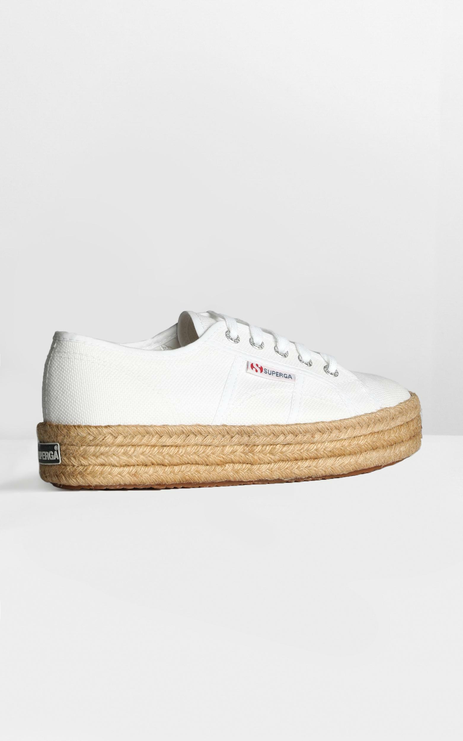 Superga - 2730 Cotropew  Sneakers in white canvas - 6.5, WHT3, hi-res image number null