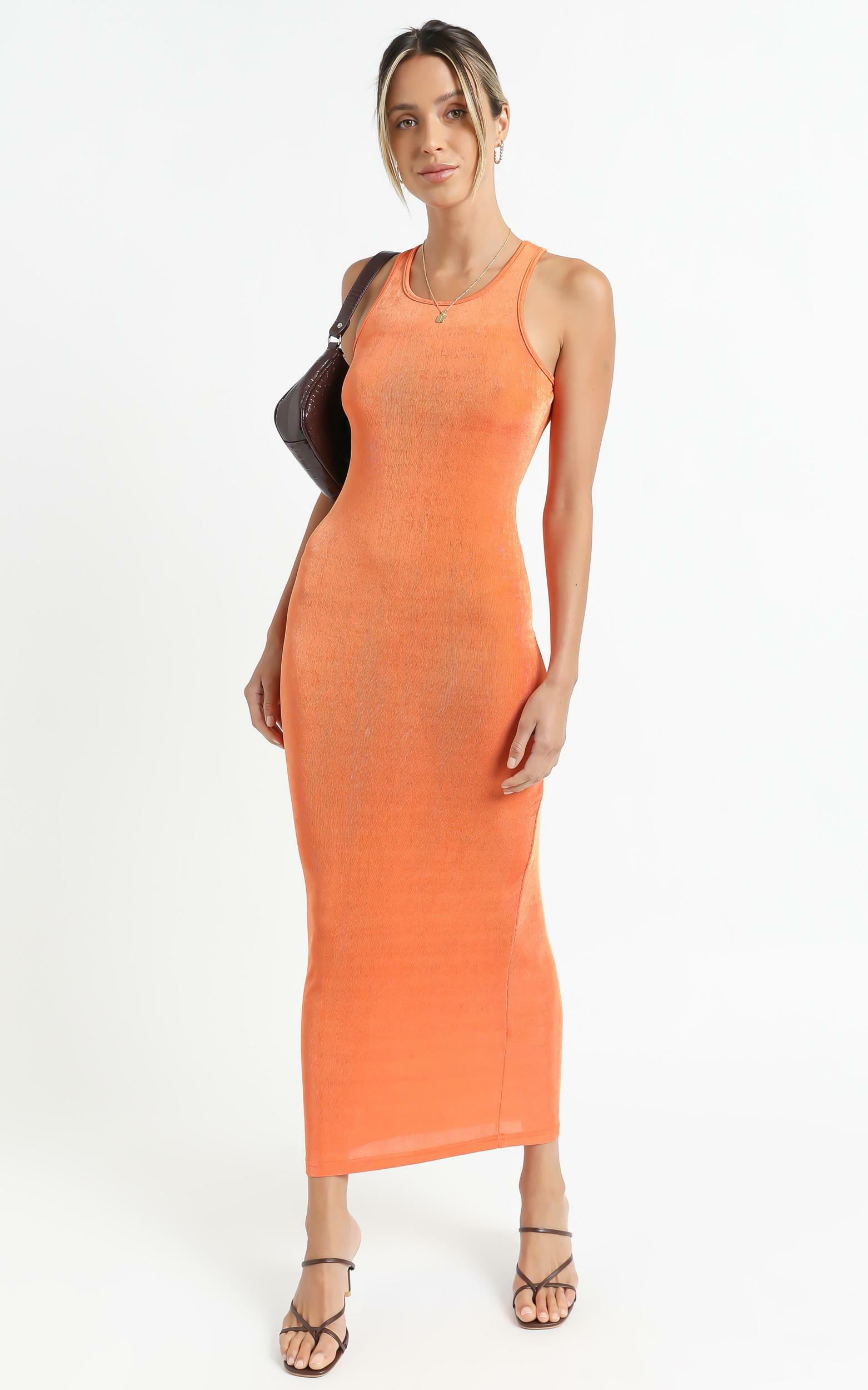 Lioness - Everlast Dress in Orange - XS, Orange, hi-res image number null