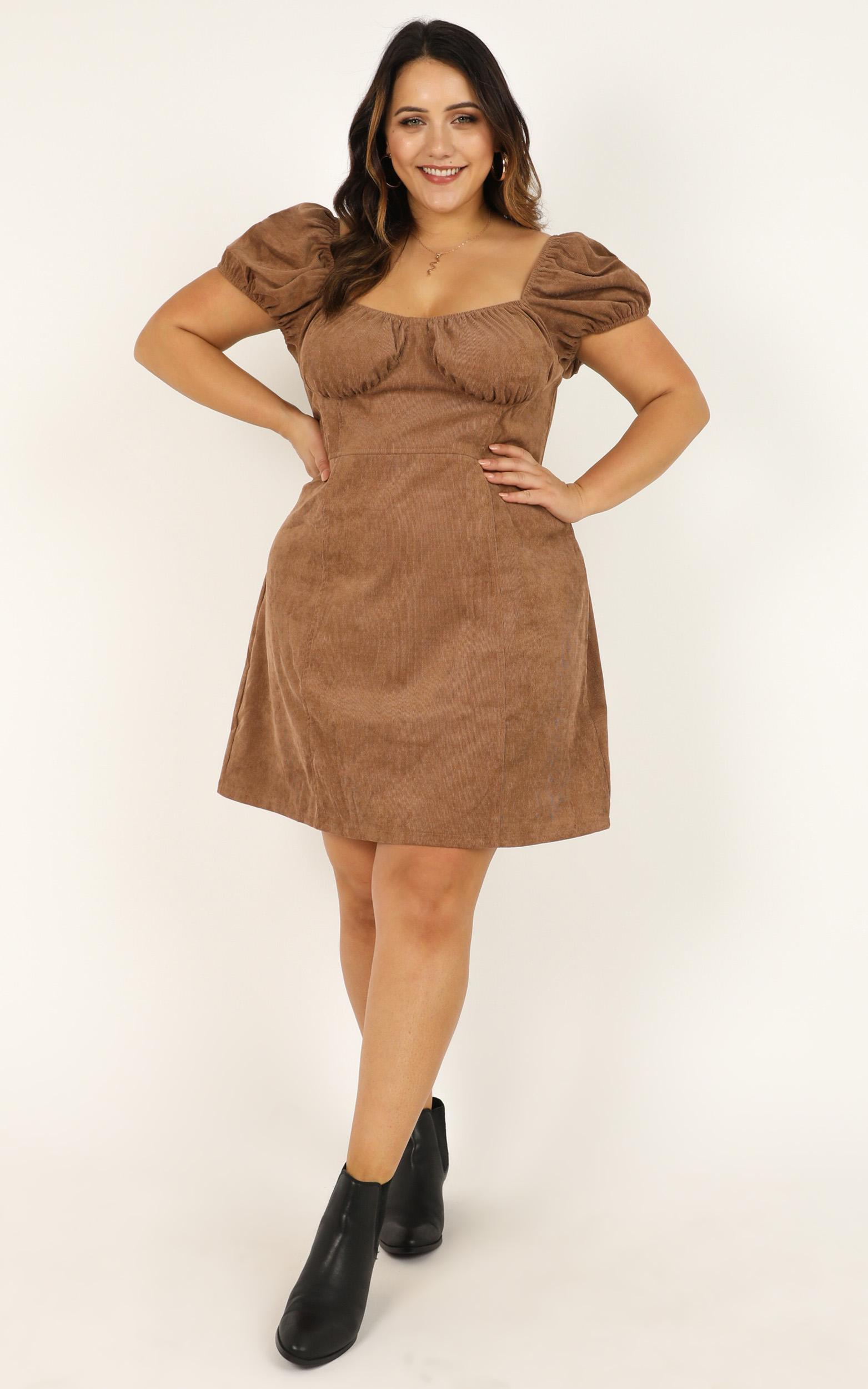 Last Standing Dress in tan cord - 20 (XXXXL), Tan, hi-res image number null