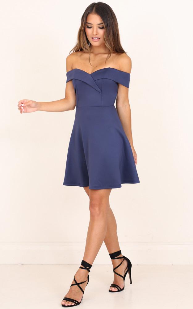 Never Let Go Dress in Steel Blue - 18 (XXXL), Blue, hi-res image number null