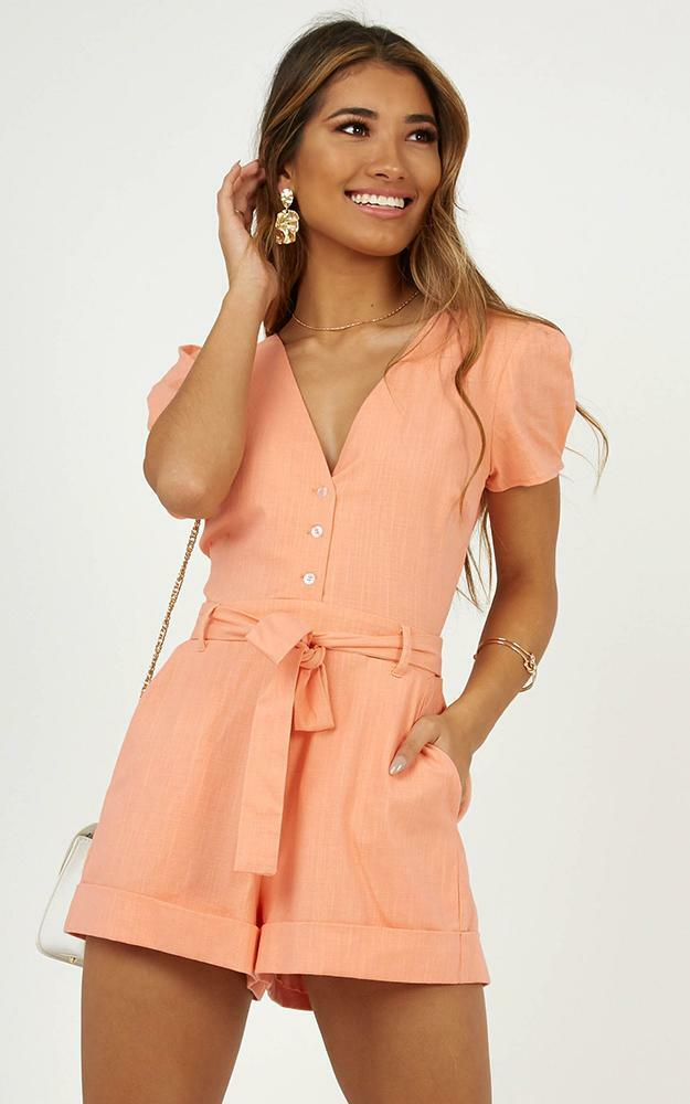 Sundaze playsuit in peach - 20 (XXXXL), Blush, hi-res image number null