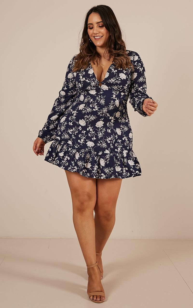 Sweeter Dreams Dress in navy floral - 20 (XXXXL), Navy, hi-res image number null