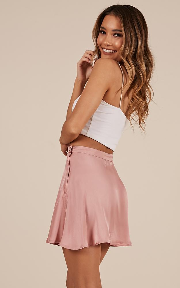 Story Of Mine skirt in blush satin - 12 (L), Blush, hi-res image number null