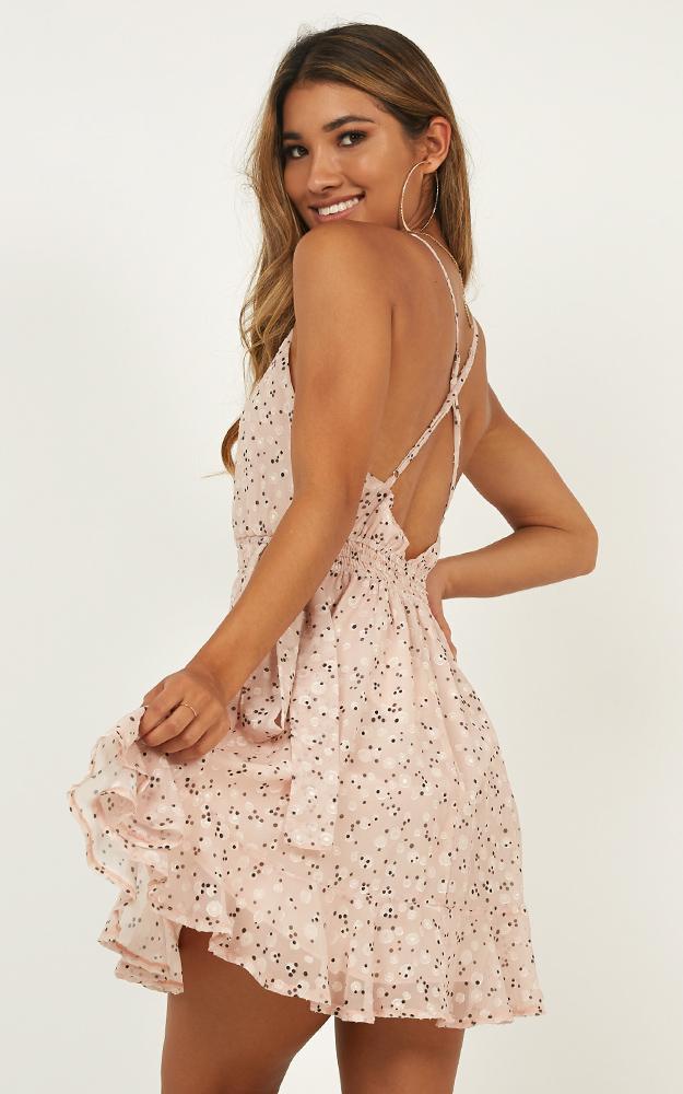Sunshine Fun Dress in blush print - 12 (L), Blush, hi-res image number null