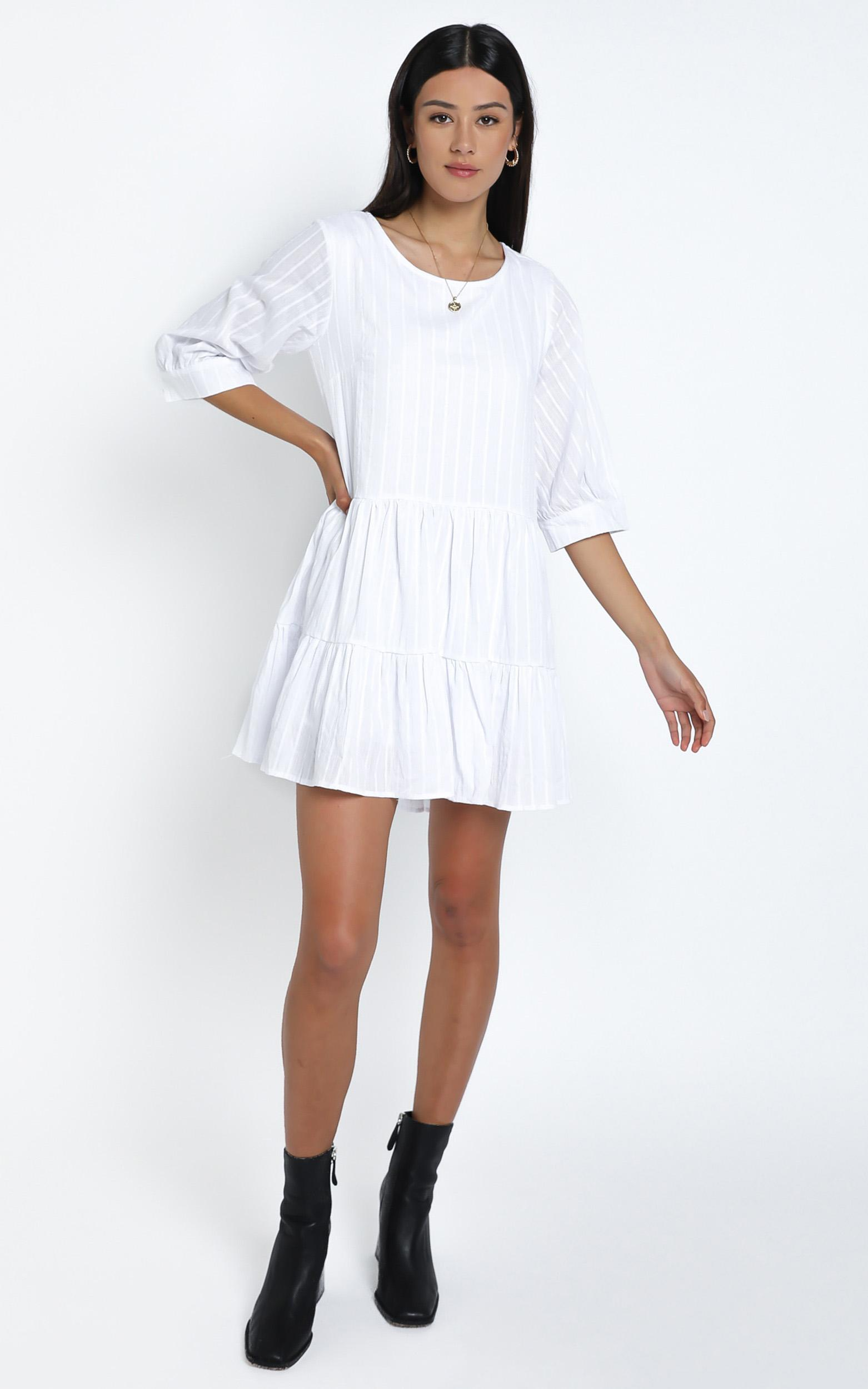 Cade Dress in White - 14 (XL), White, hi-res image number null