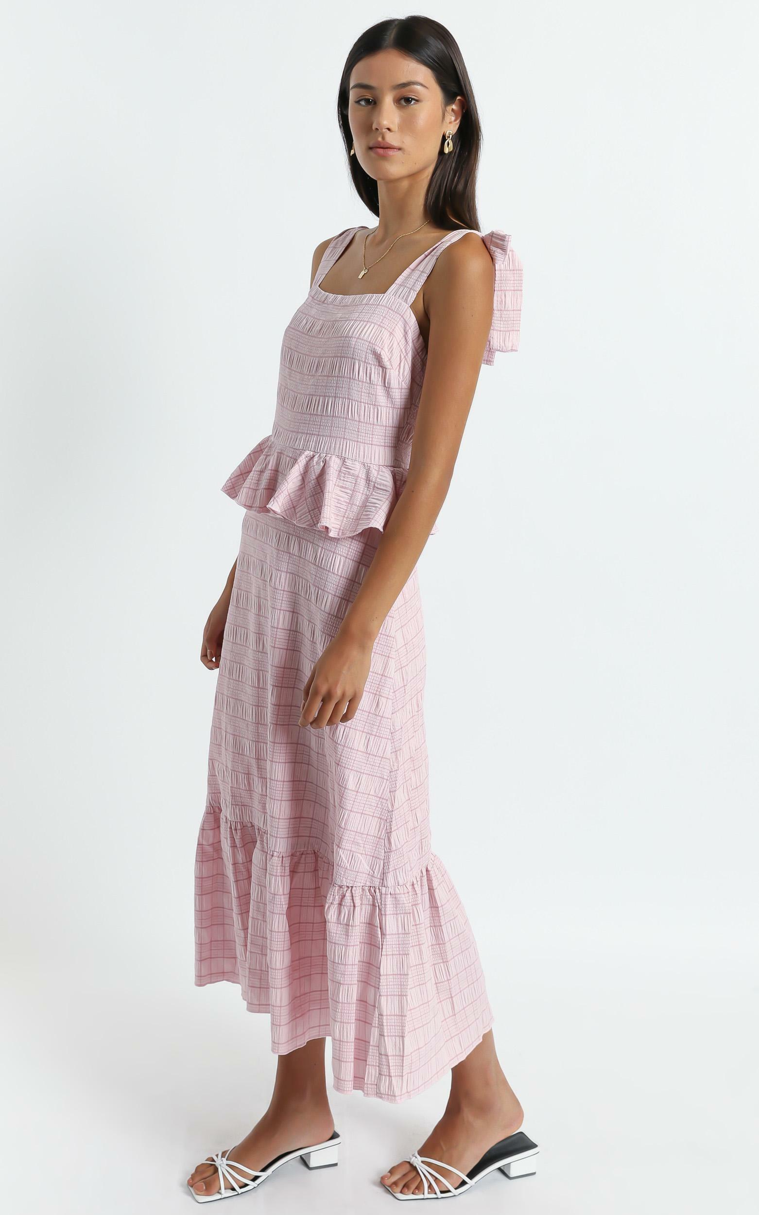 Alane Dress in Blush Check - 6 (XS), Blush, hi-res image number null