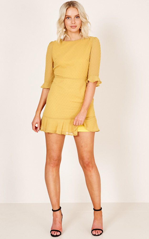 Stepping Out dress in mustard - 12 (L), Mustard, hi-res image number null