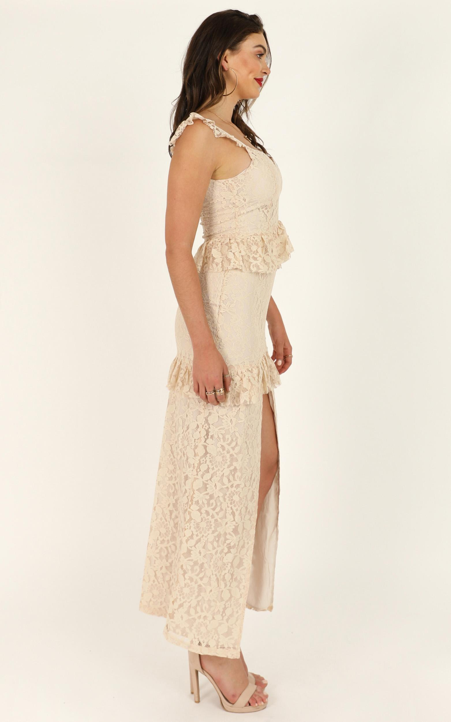 Waiting Forever maxi dress in cream lace - 12 (L), Cream, hi-res image number null