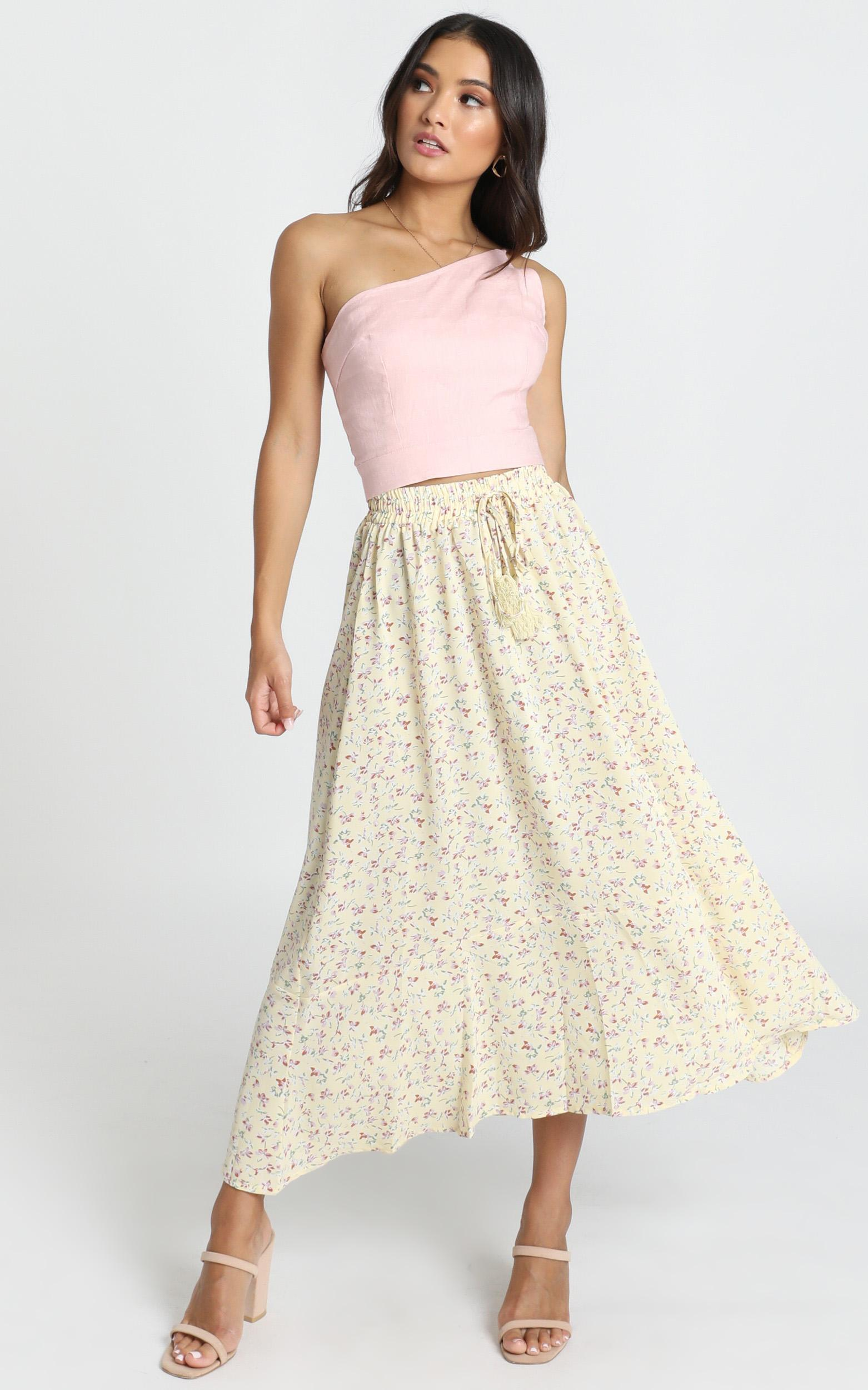 Do This Now Skirt in yellow floral - 12 (L), Yellow, hi-res image number null