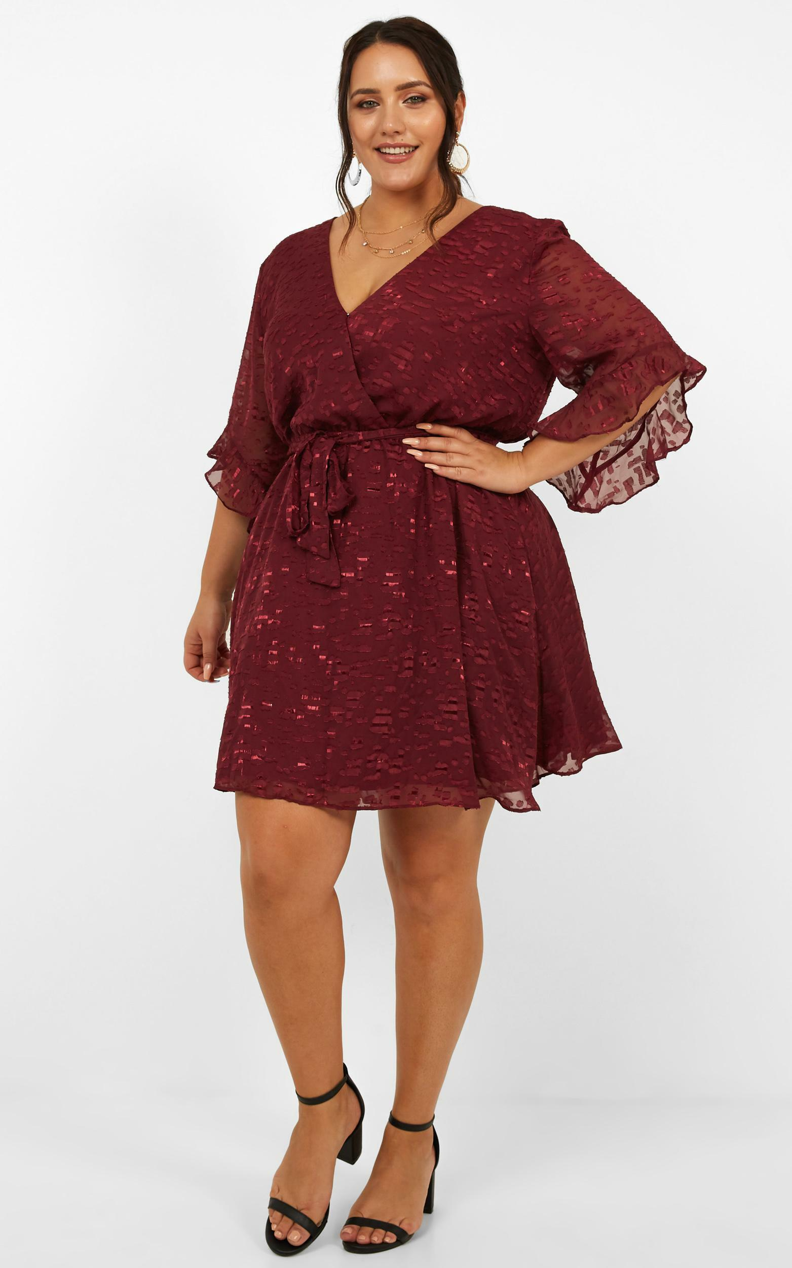 Everyday People Dress in wine - 20 (XXXXL), Wine, hi-res image number null