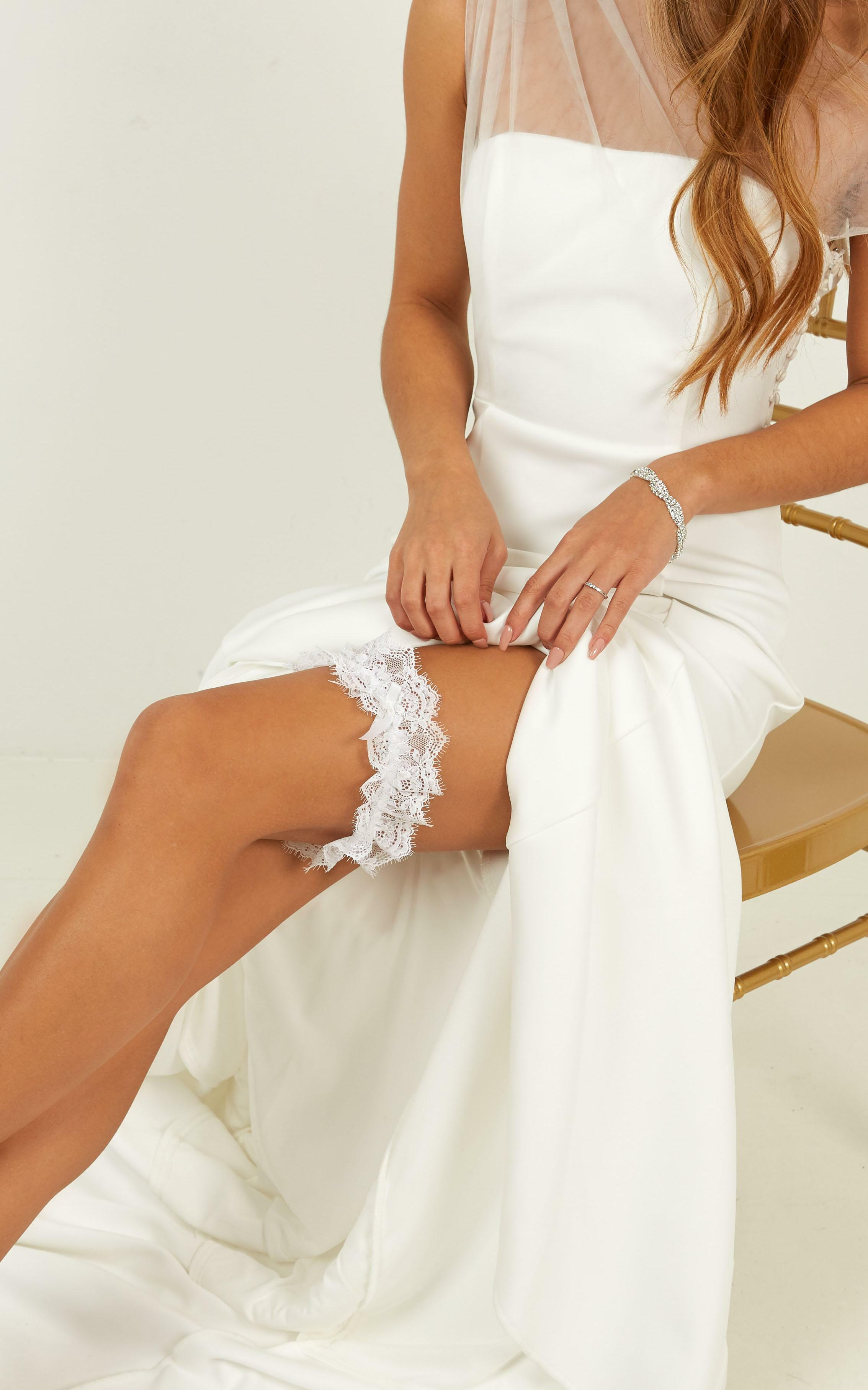 The Moment For Me And You Eyelash Lace Garter In White, , hi-res image number null