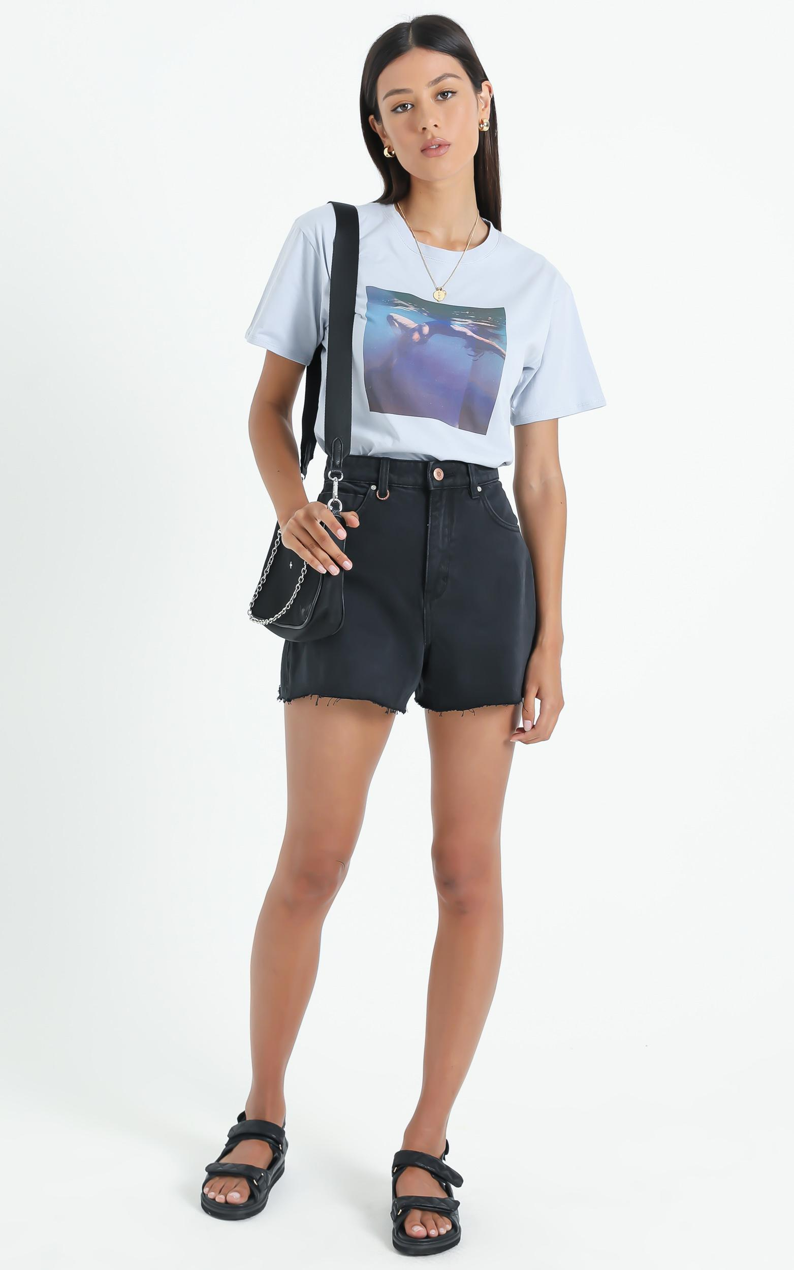 Cools Club - Sunday Tee in Dusk Swim - 6 (XS), Blue, hi-res image number null