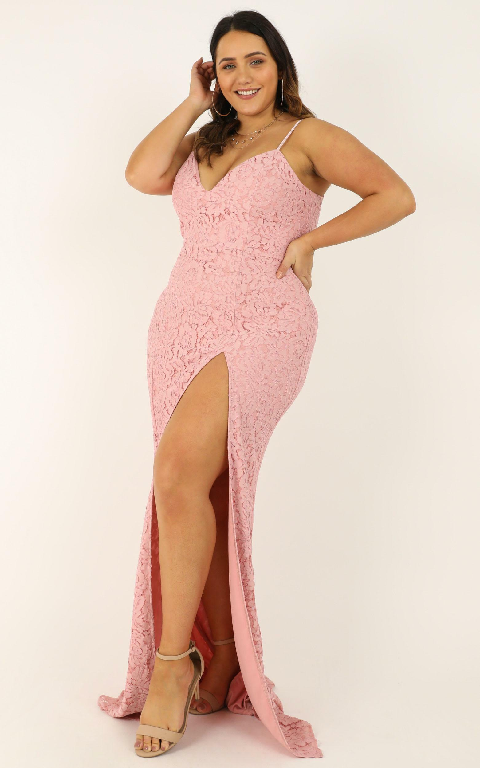 Always Extra Dress in blush lace - 20 (XXXXL), Blush, hi-res image number null