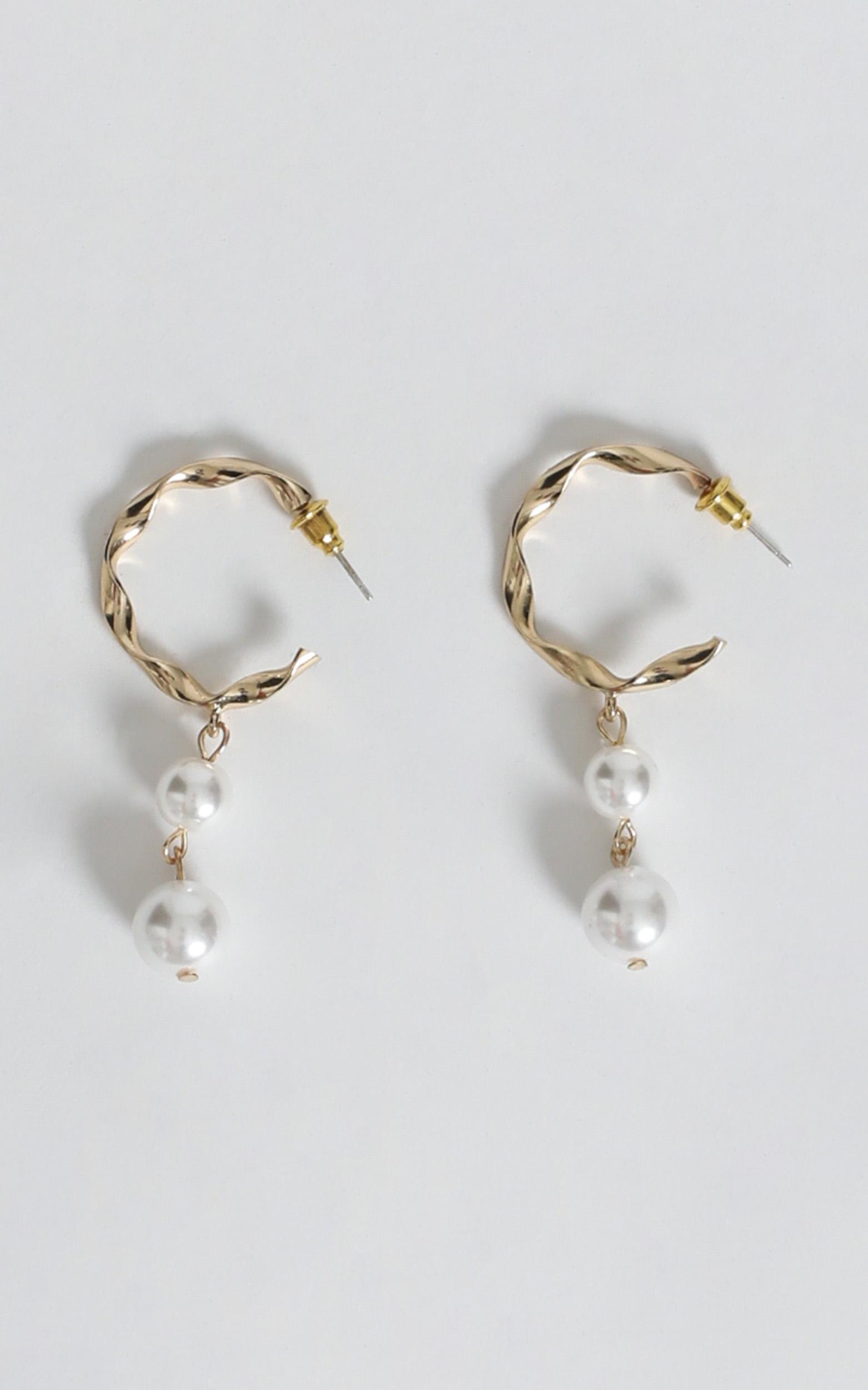 Celina Pearl Drop Earrings In Gold, , hi-res image number null