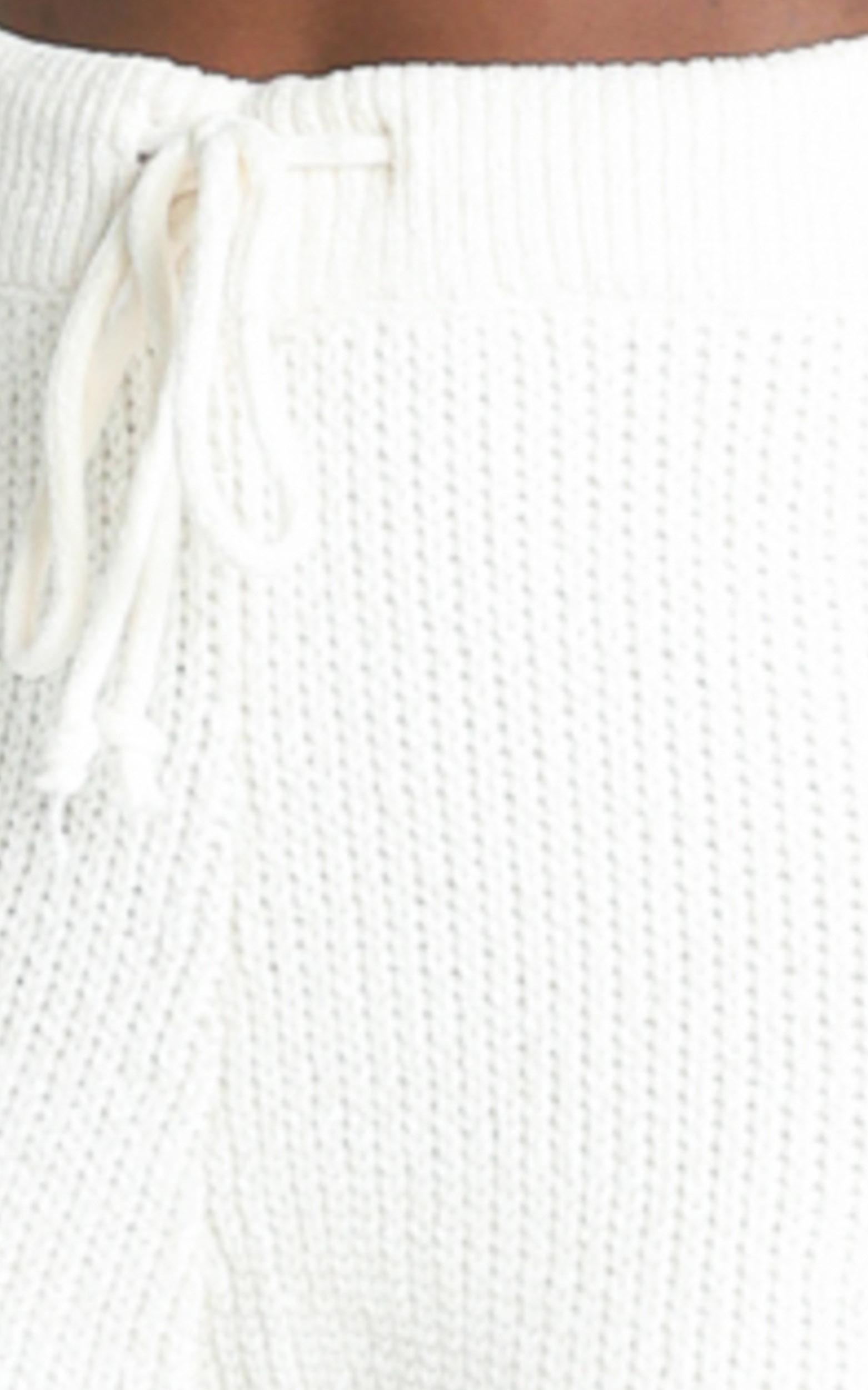 Davina Knitted Pants in Cream - S, Cream, hi-res image number null