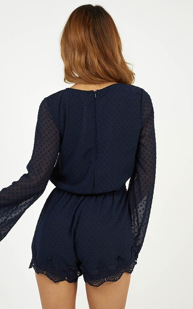 Call Me Pretty playsuit in navy - 6 (XS), Navy, hi-res image number null
