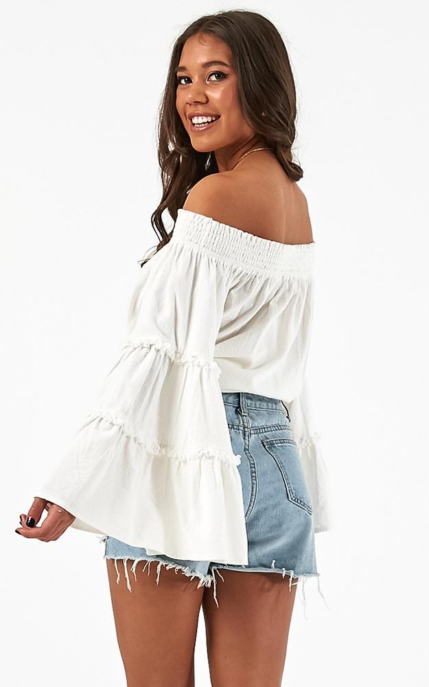 Lighten Up top in white linen look, White, hi-res image number null