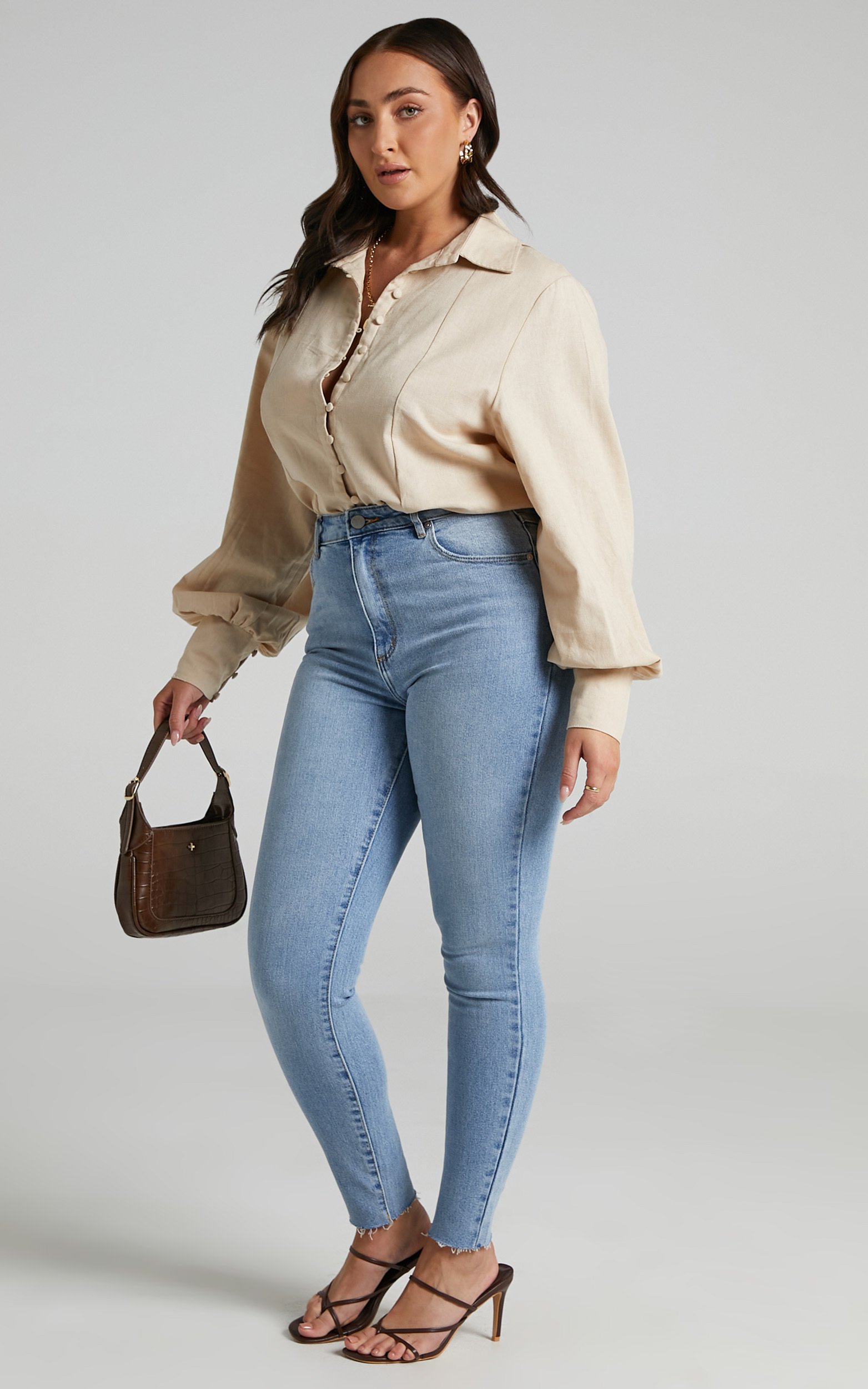 Abrand - A High Skinny Ankle Basher Jean in Ashley - 06, BLU1, hi-res image number null
