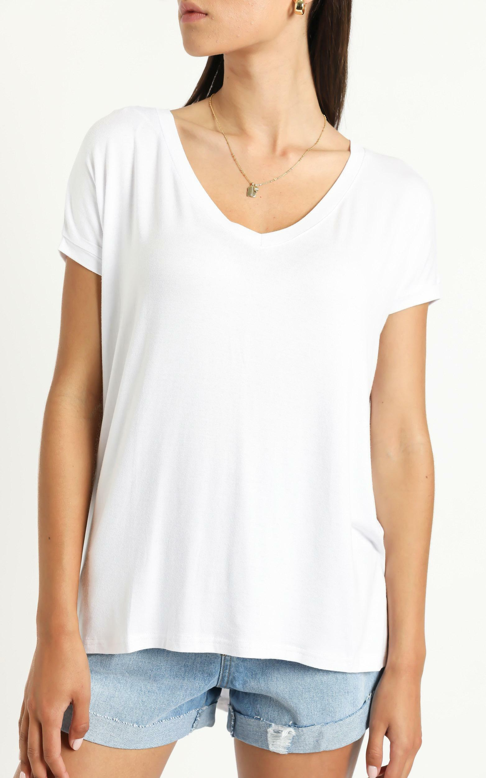Back To Basics top in white - 4 (XXS), White, hi-res image number null