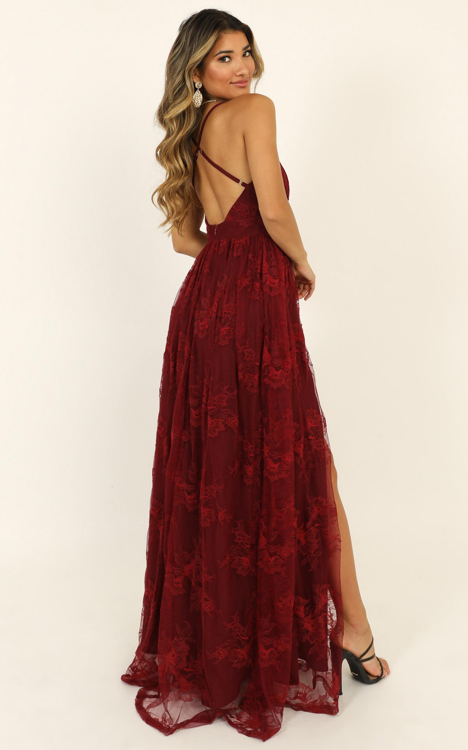 Prom Loving Dress in wine lace - 20 (XXXXL), Wine, hi-res image number null