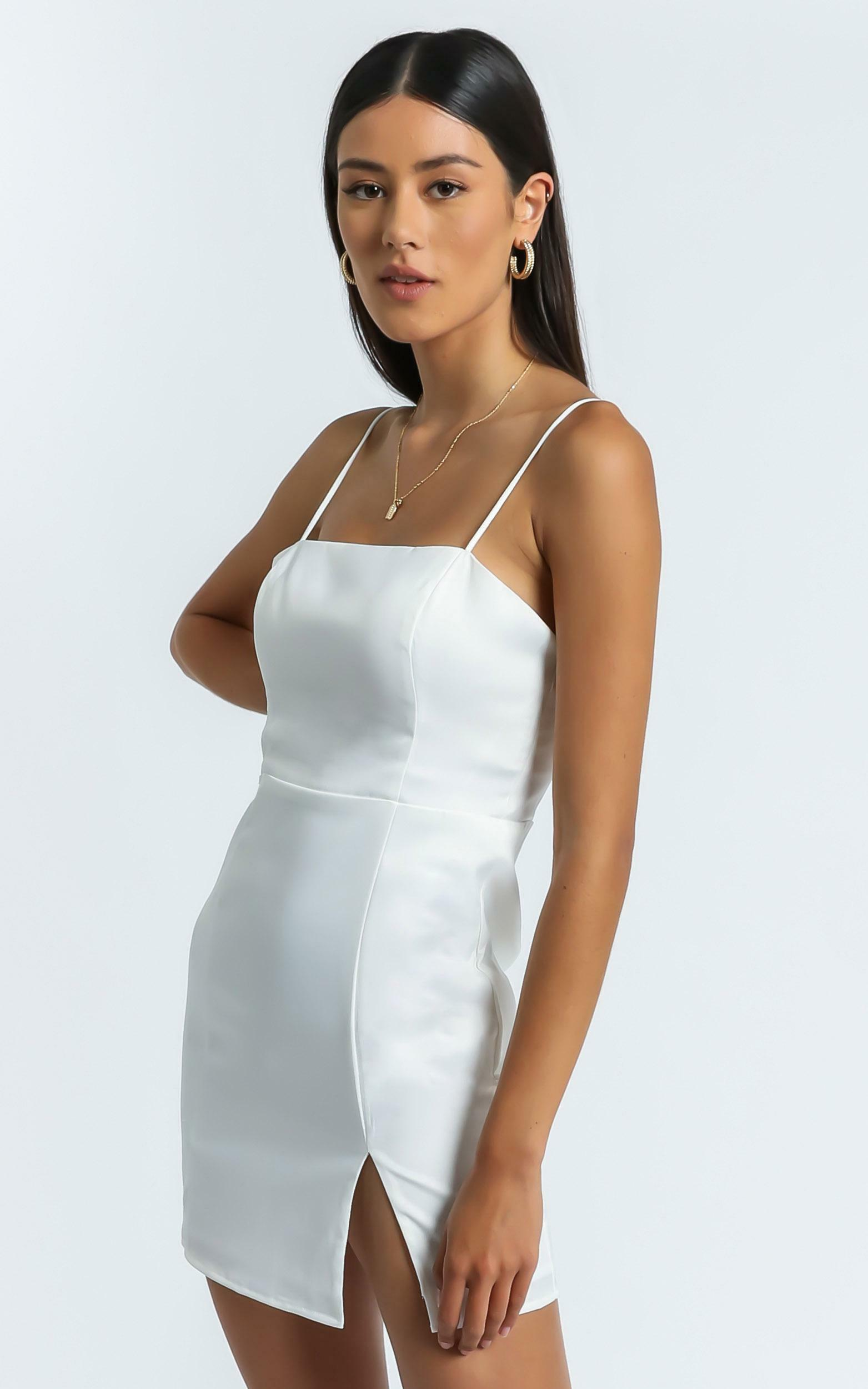 My Love Is Yours Dress in White Satin - 06, WHT1, hi-res image number null