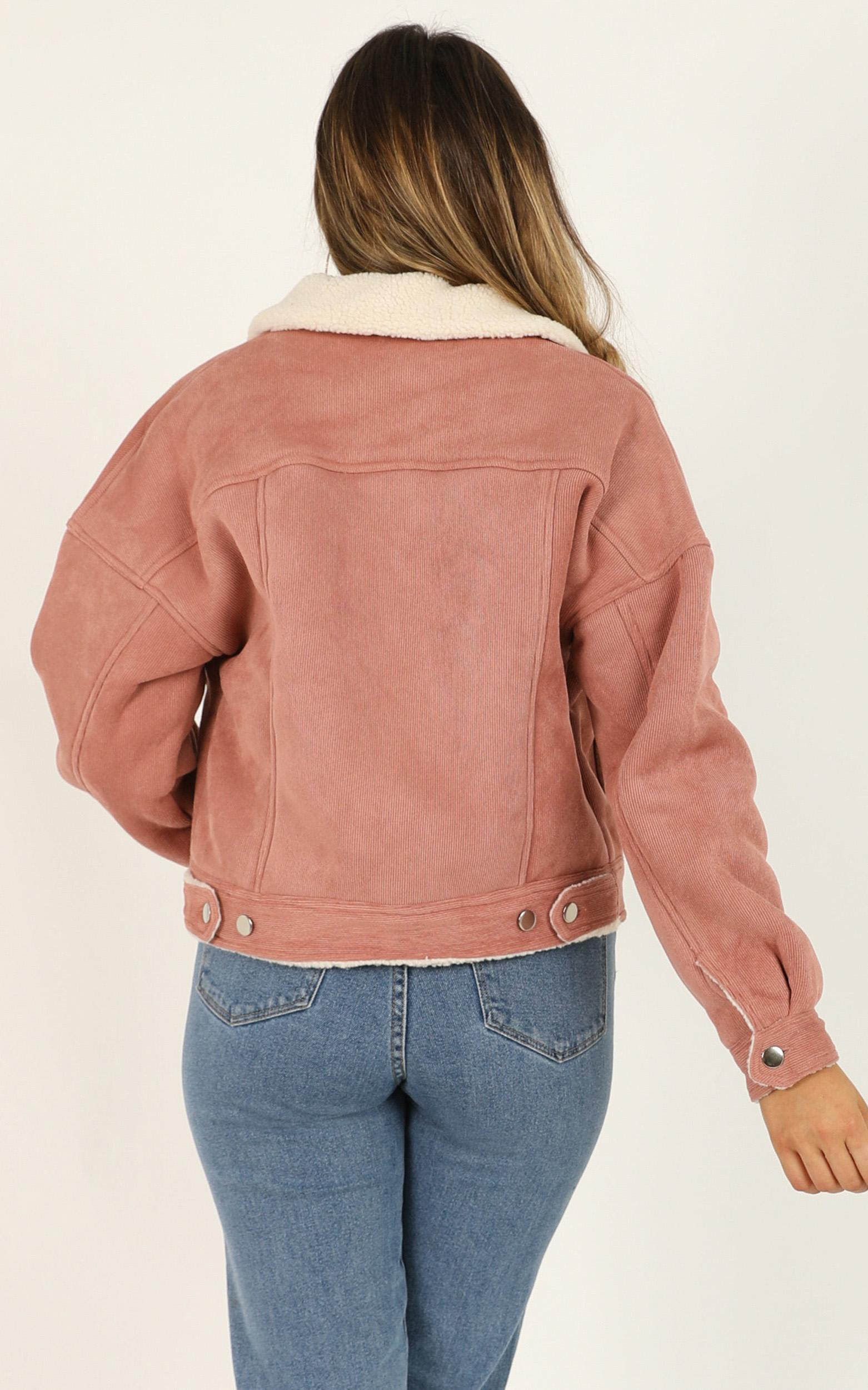 Gemini Love jacket in blush cord - 12 (L), Blush, hi-res image number null