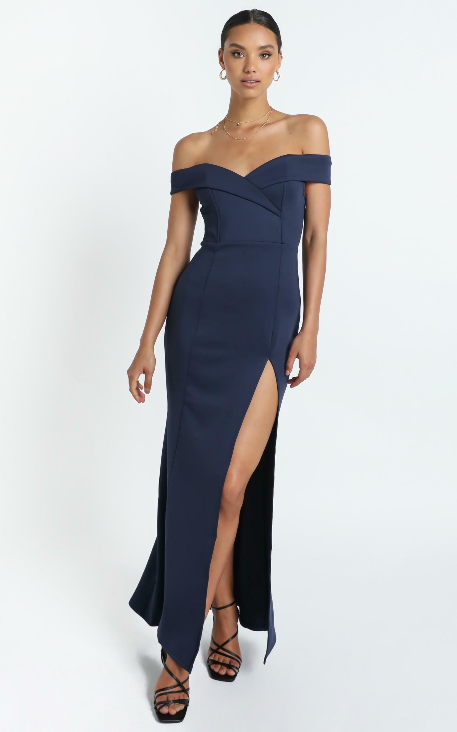 One For The Money dress in steel blue - 4 (XXS), BLU1, hi-res image number null