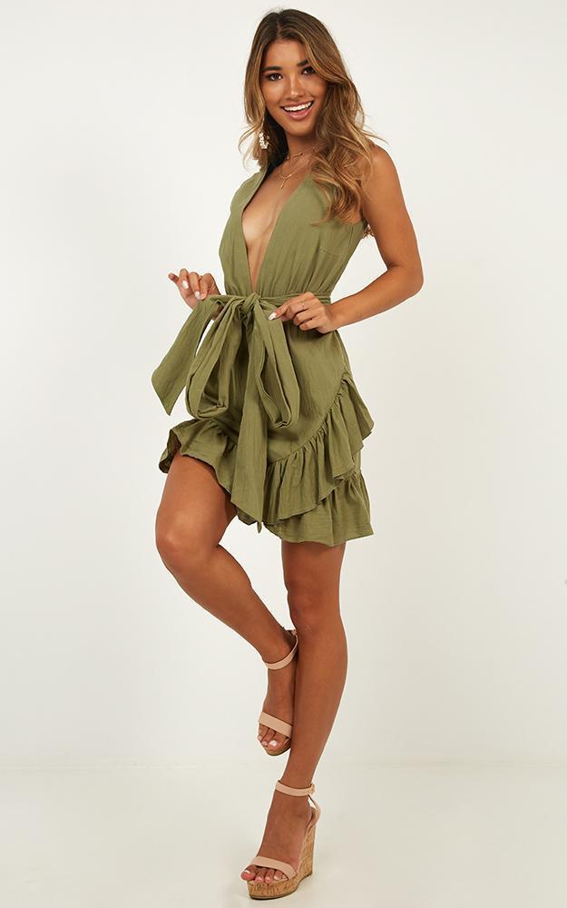 Slow Searching Dress in khaki - 20 (XXXXL), Khaki, hi-res image number null
